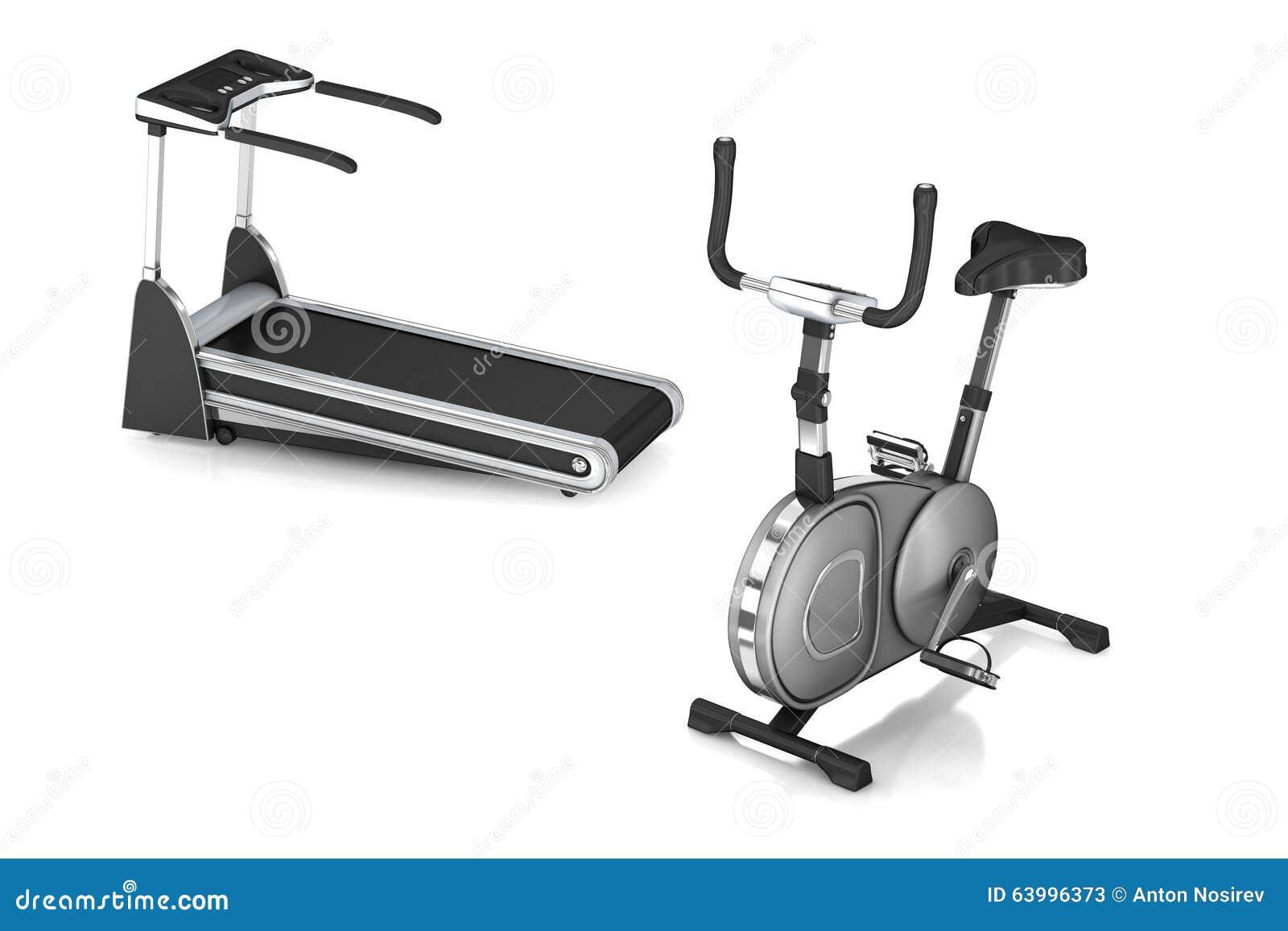 and treadmill bike Stationary
