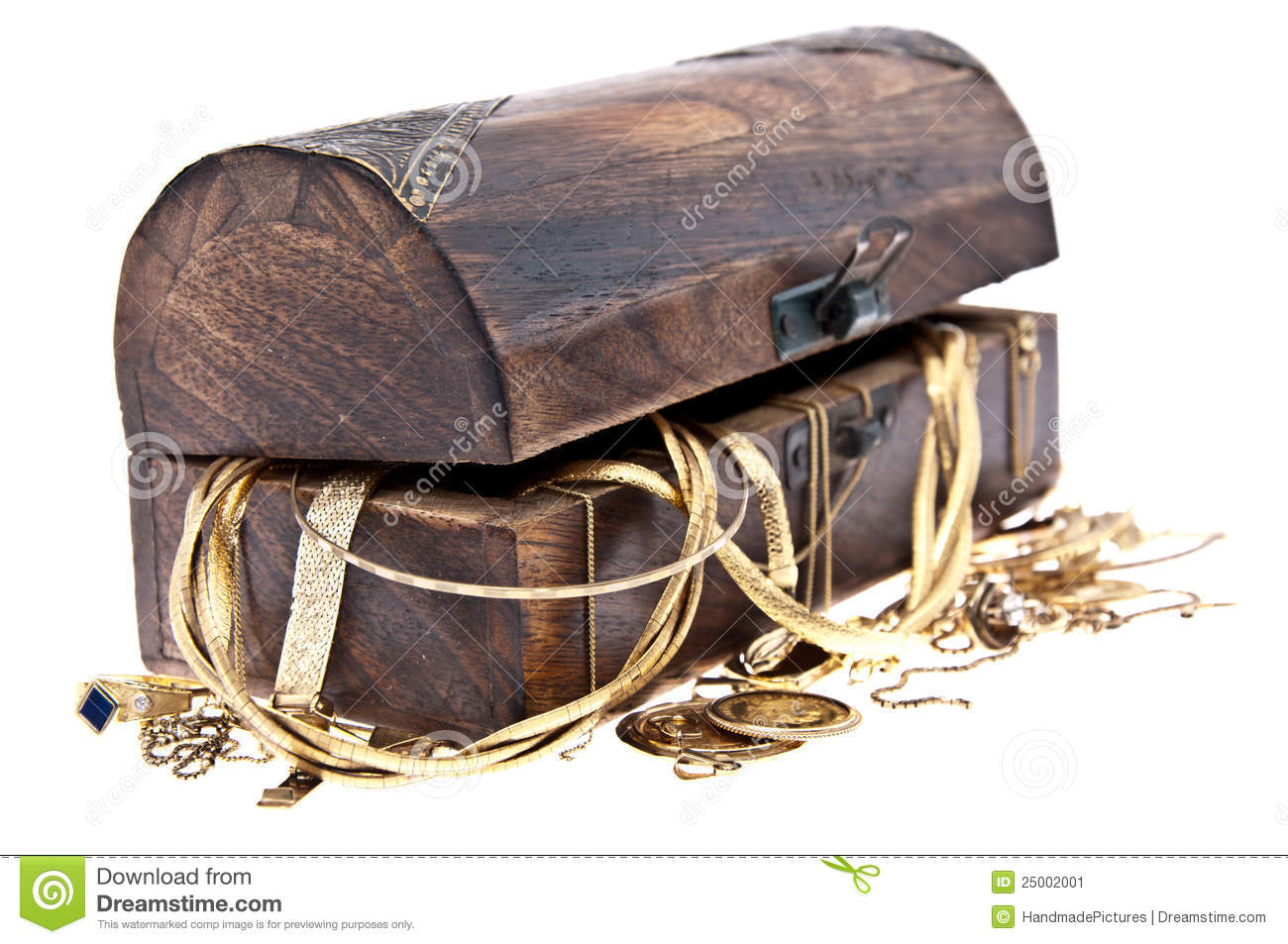 Treasure box with old jewelry stock image image 25002001 for What to do with old mailbox