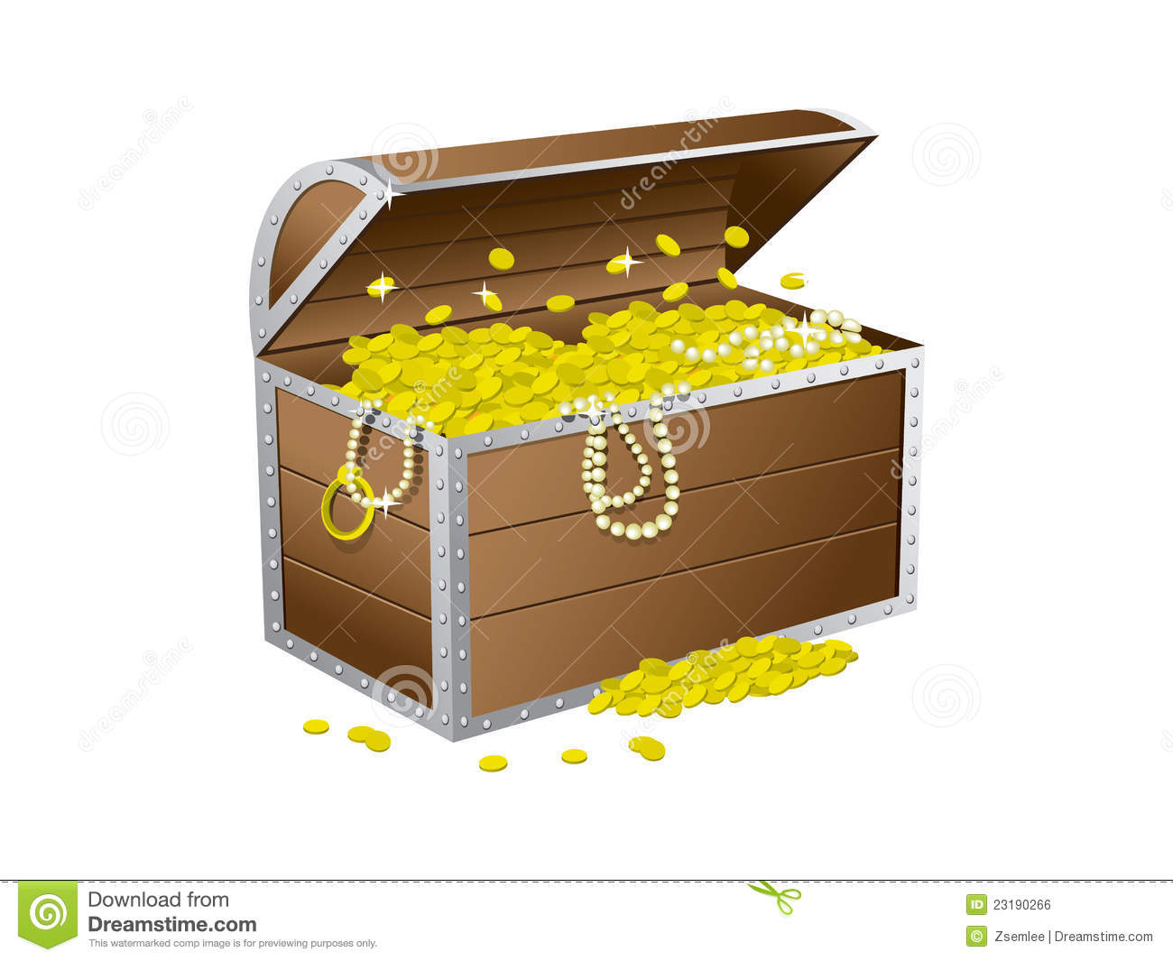 Treasure chest stock vector Illustration of object nobody