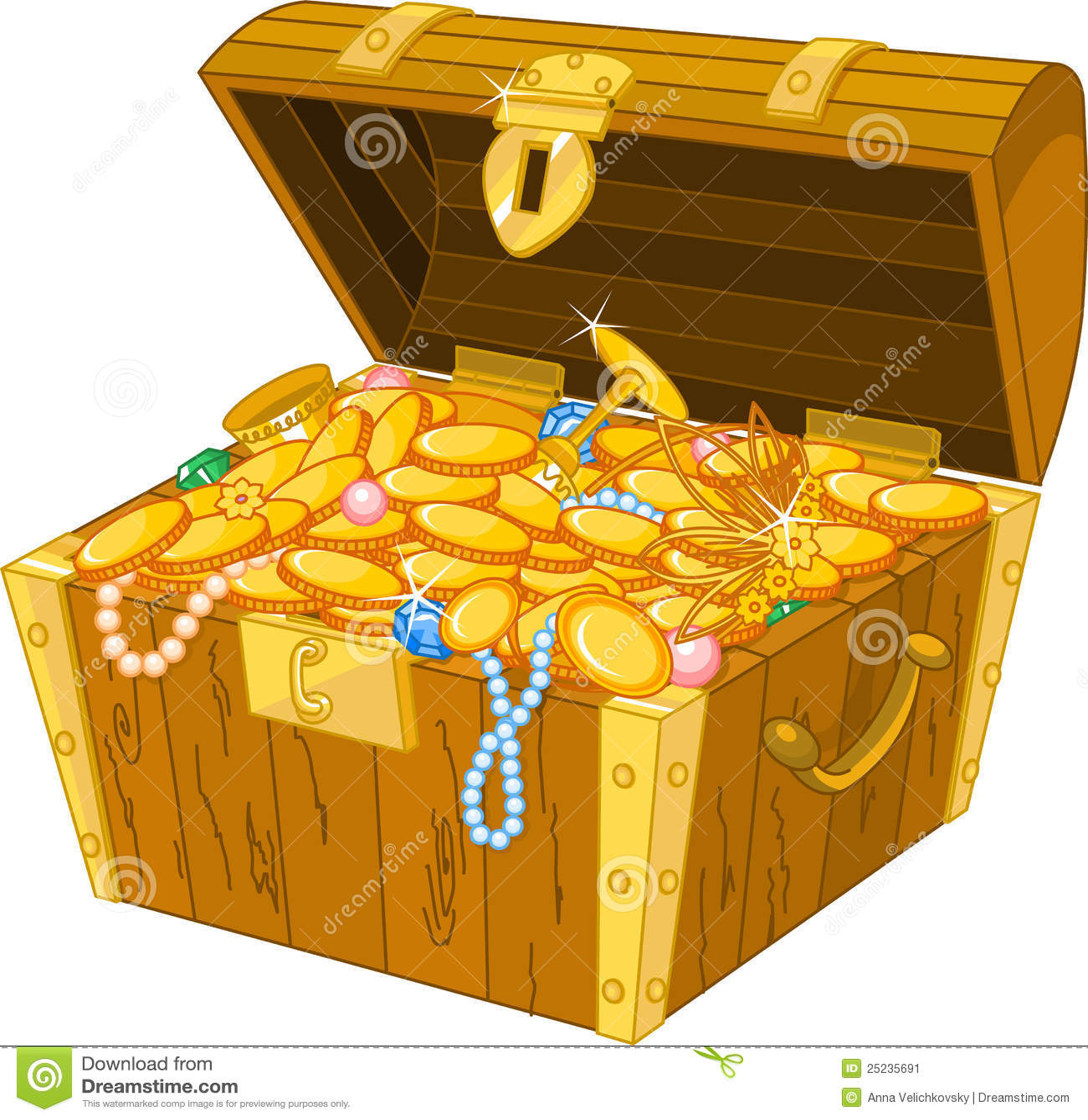 stock image treasure chest