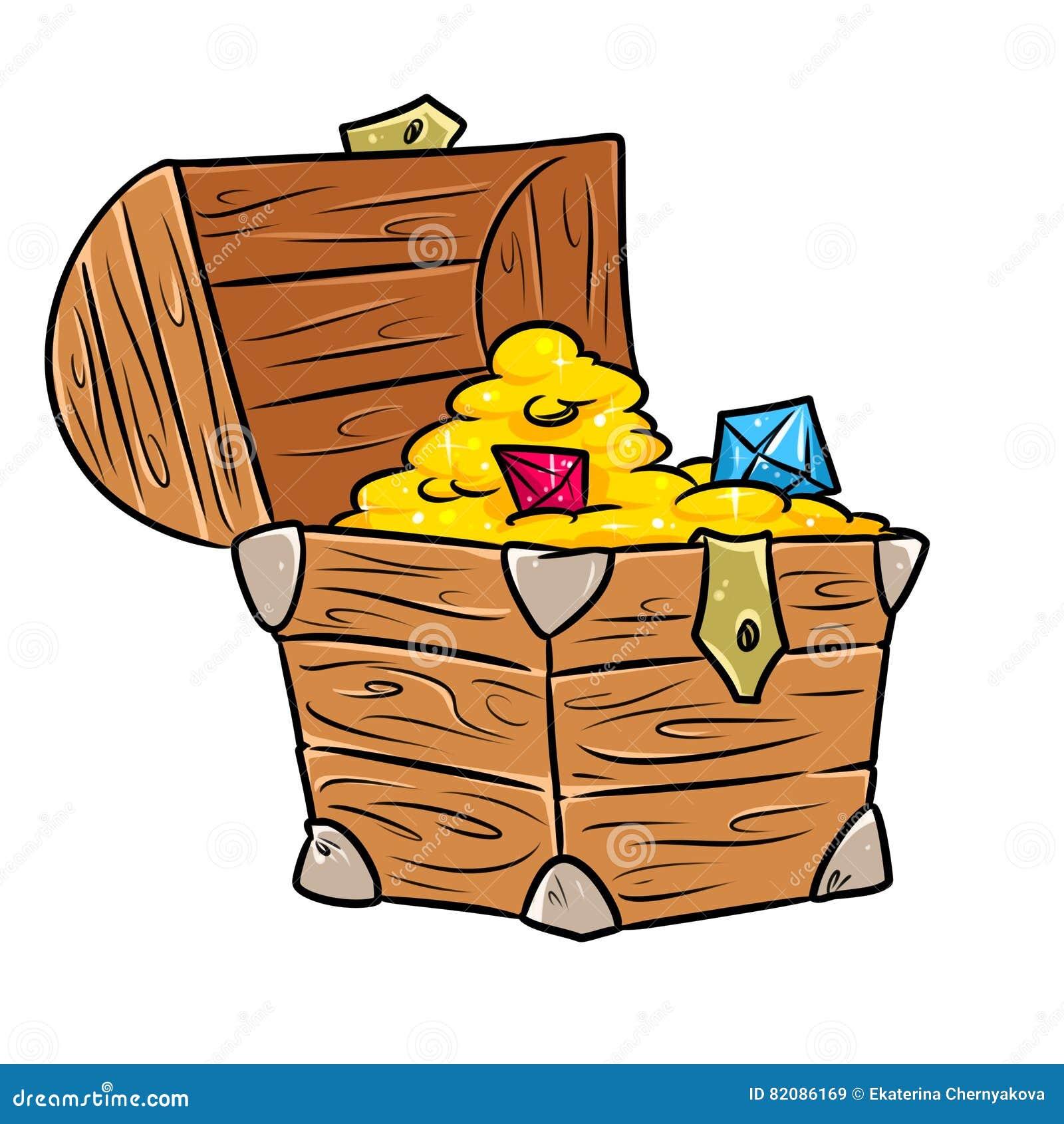 treasure chest cartoon stock illustration illustration of graphics rh dreamstime com free treasure chest clipart images wooden treasure chest clipart free