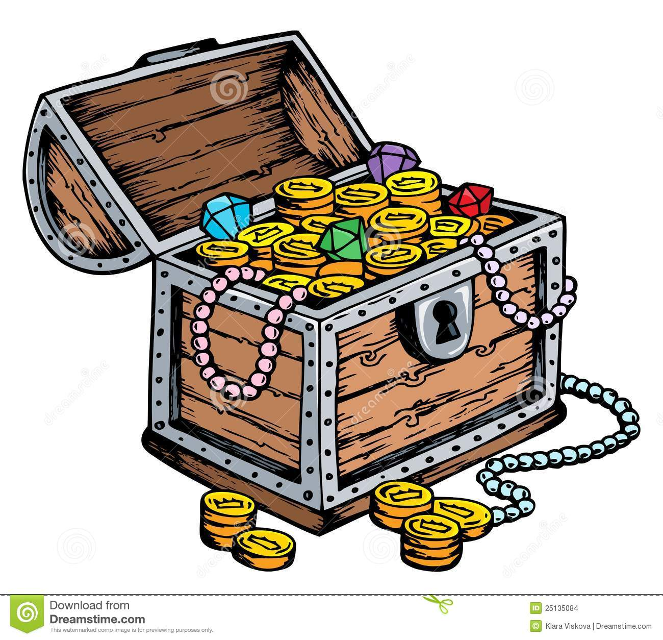 Treasure Chest Drawing Stock Images - Image: 25135084