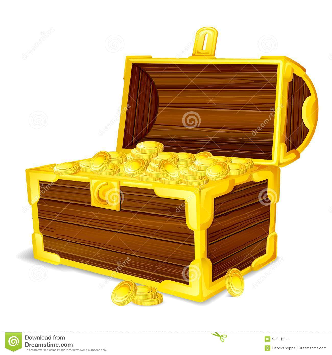 Treasure Chest full of Gold Coin