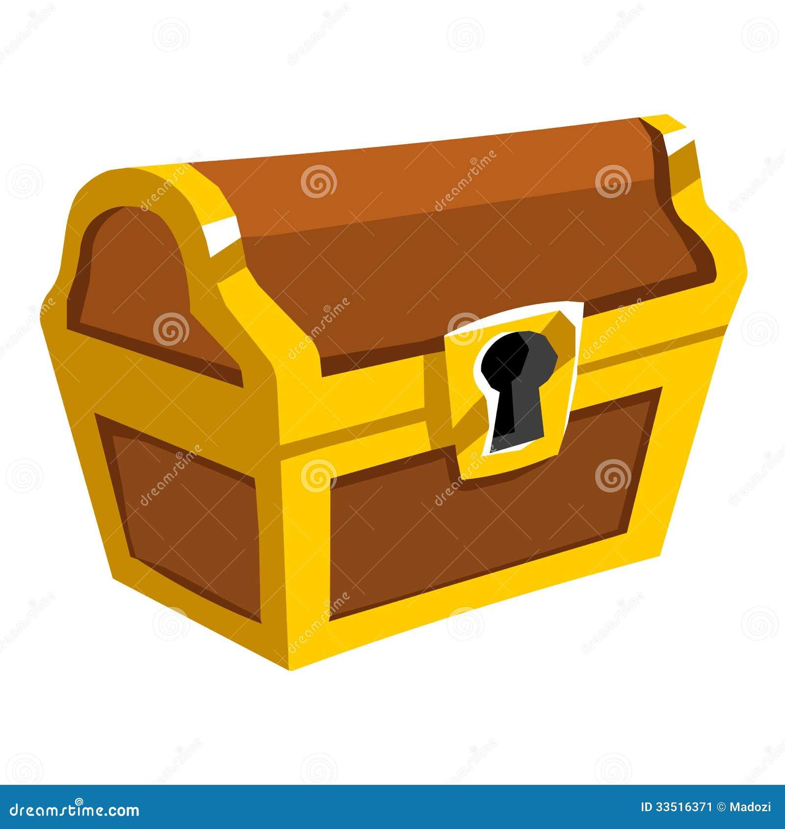 Treasure Chest Isolated Illustration Stock Image - Image: 33516371