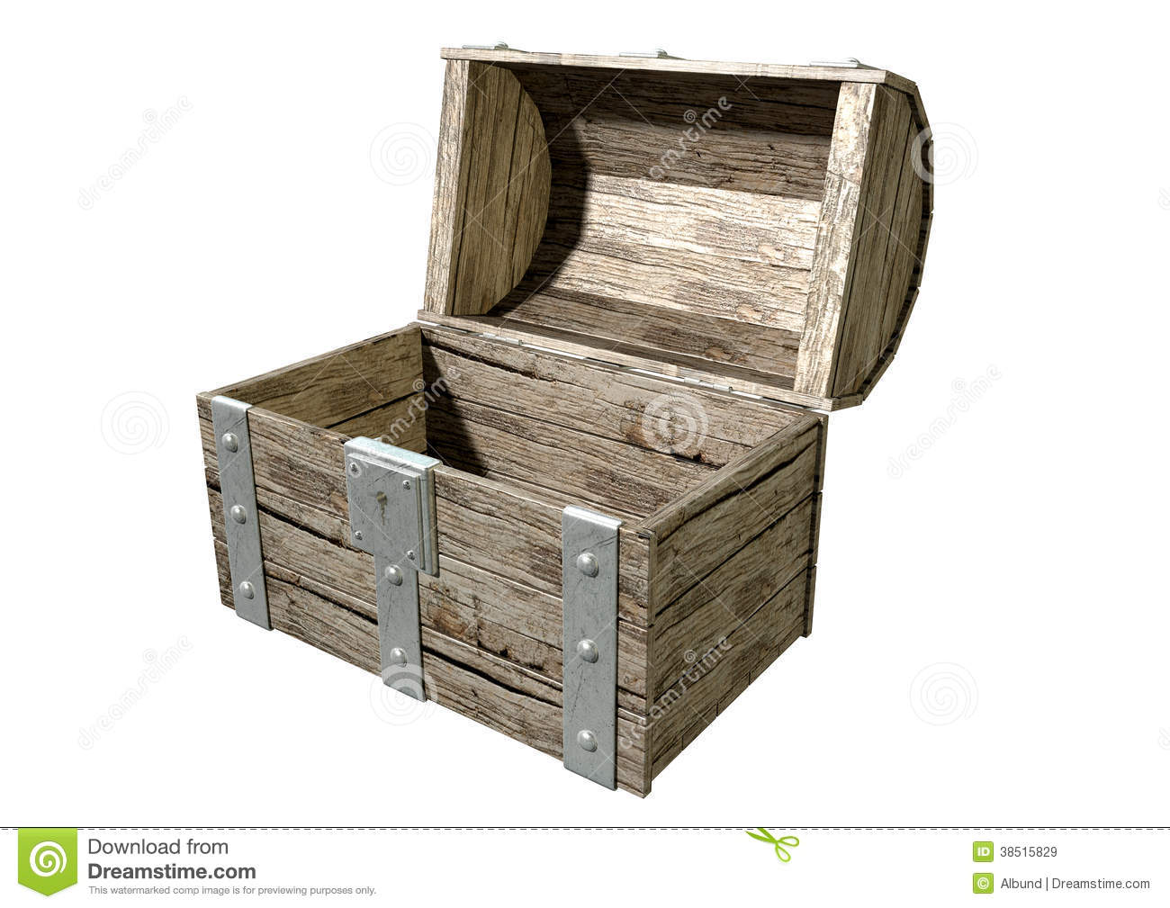 Treasure Chest Open Empty Royalty Free Stock Images - Image: 38515829