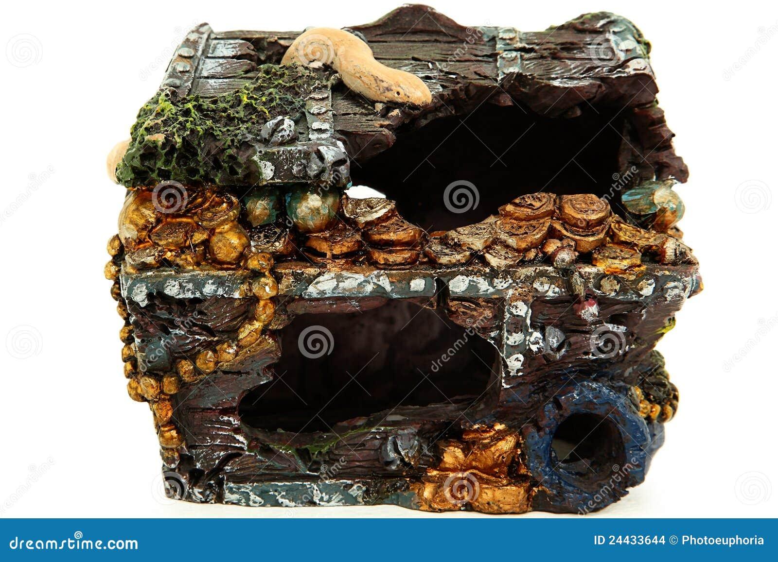 Treasure chest ornament stock photo image of tank for Fish tank treasure chest