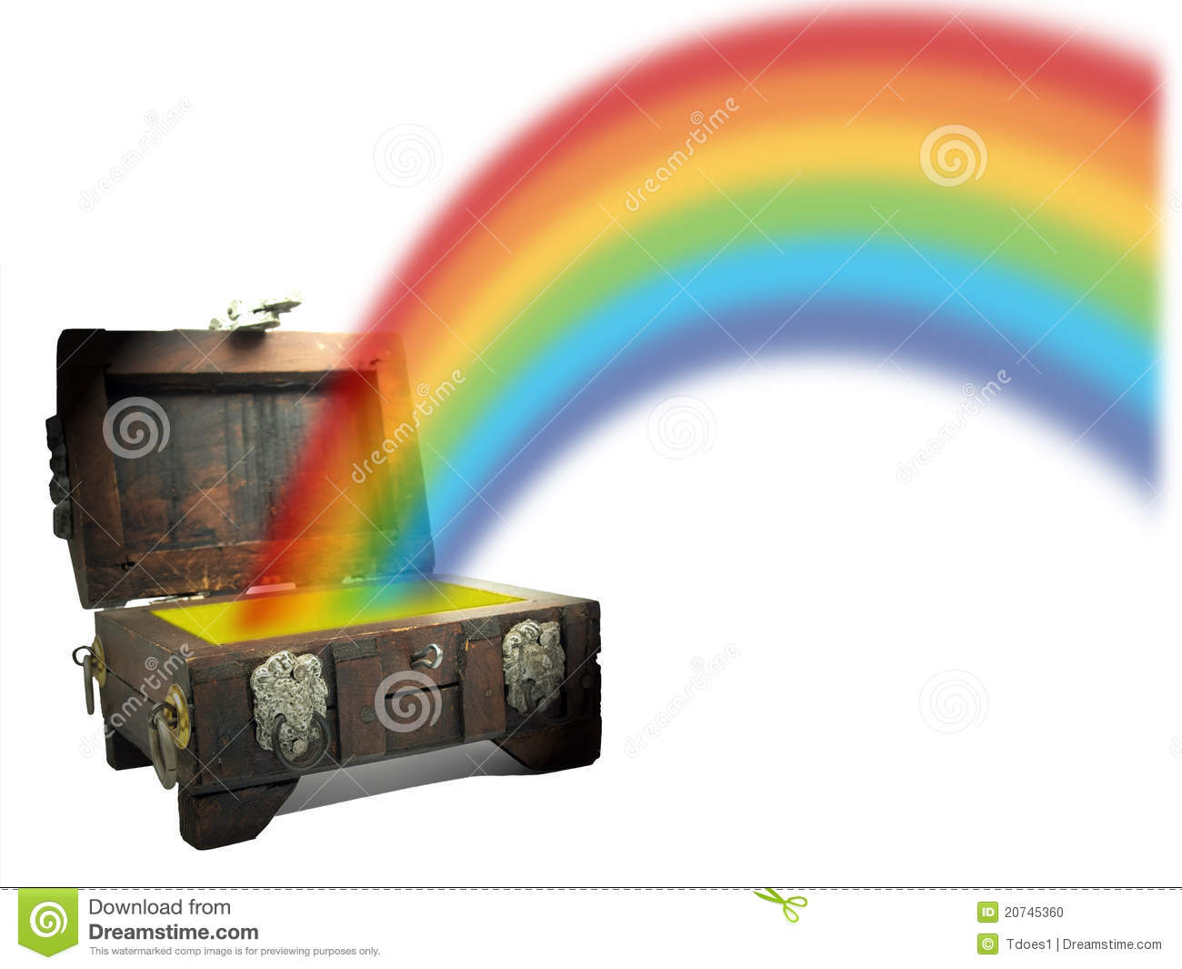 Treasure Chest With Rainbow Stock Photo Image 20745360