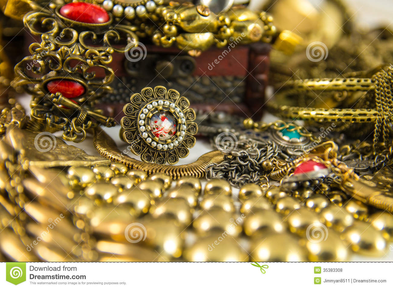 Treasure Chest stock photo. Image of golden, jewelry ...