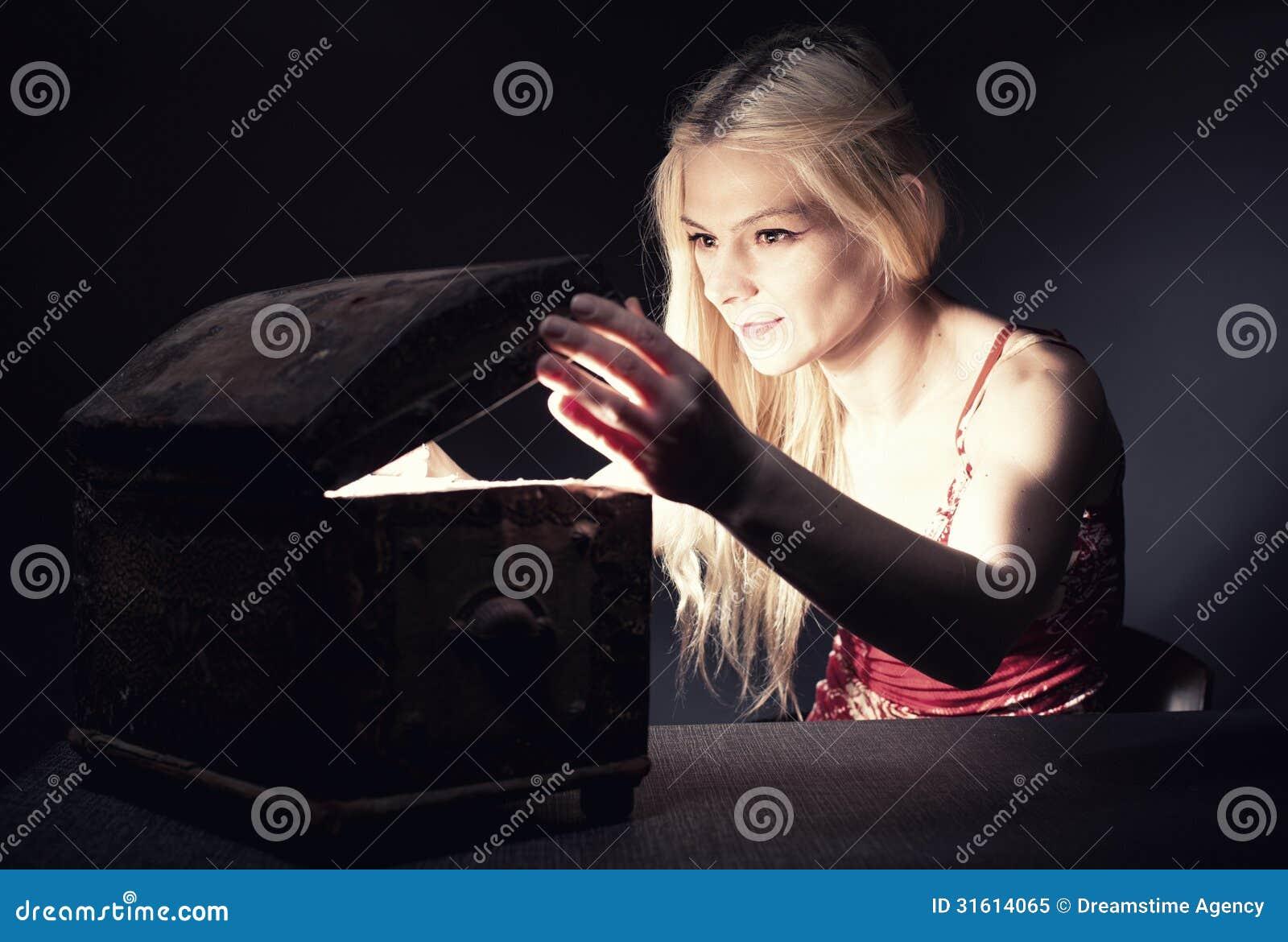 Download Treasure chest stock image. Image of portrait, concept - 31614065