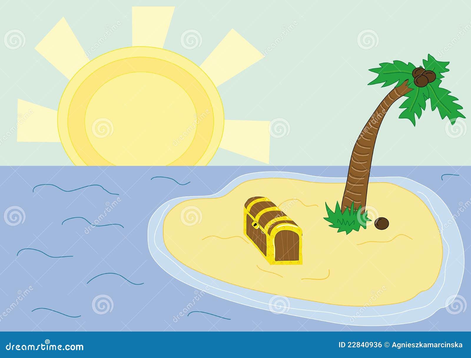 Treasure Island Royalty Free Stock Image - Image: 22840936