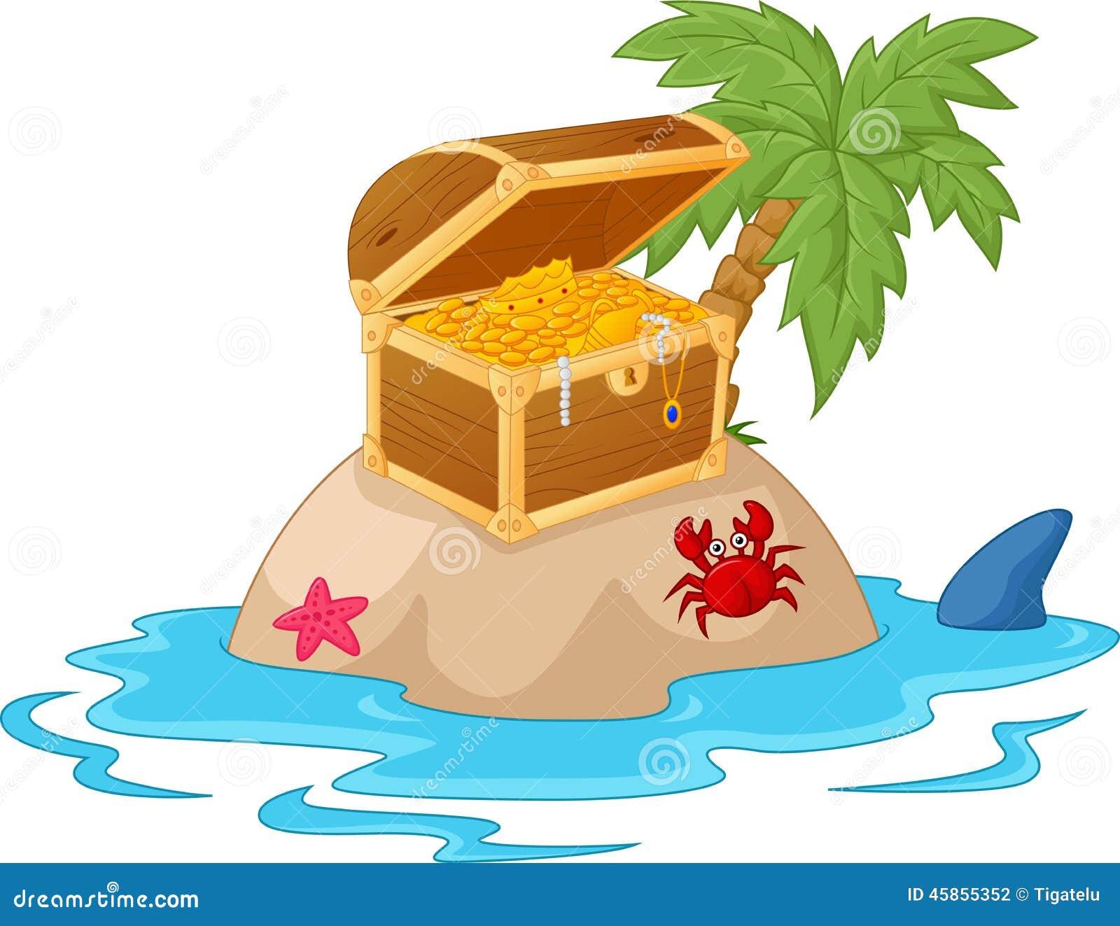 Treasure Island Cartoon Stock Vector - Image: 45855352