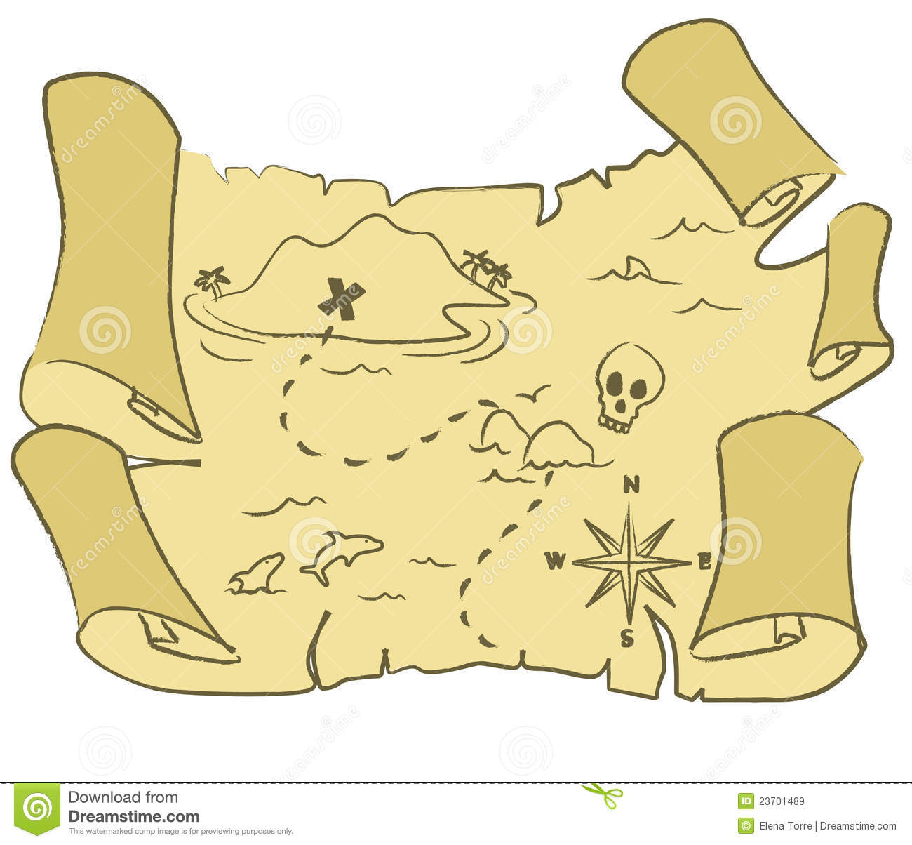 Treasure Map Vector Royalty Free Stock Images - Image: 23701489