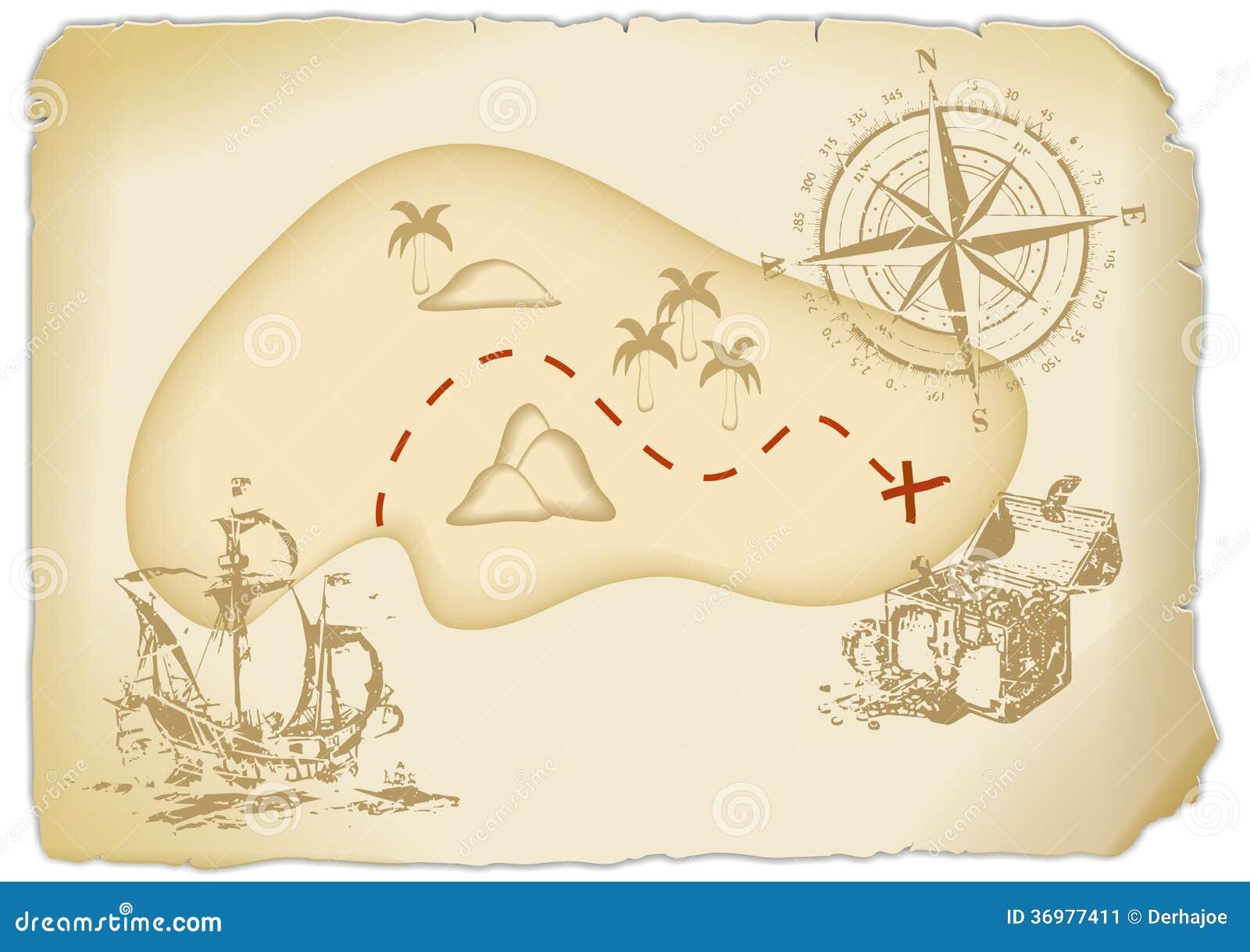 treasure map stock illustration illustration of boat