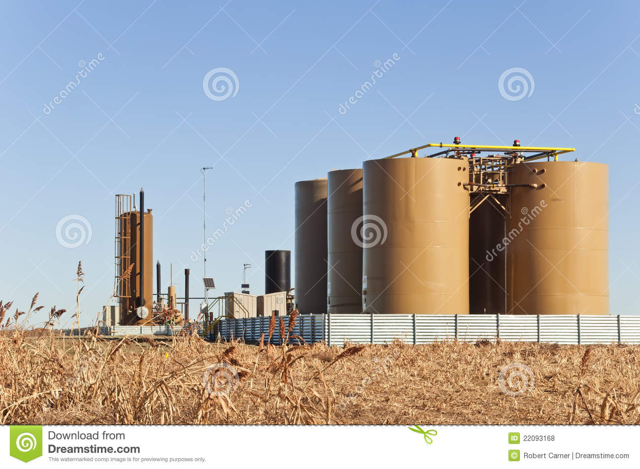Treater And Tanks For Crude Oil And Condensate Royalty