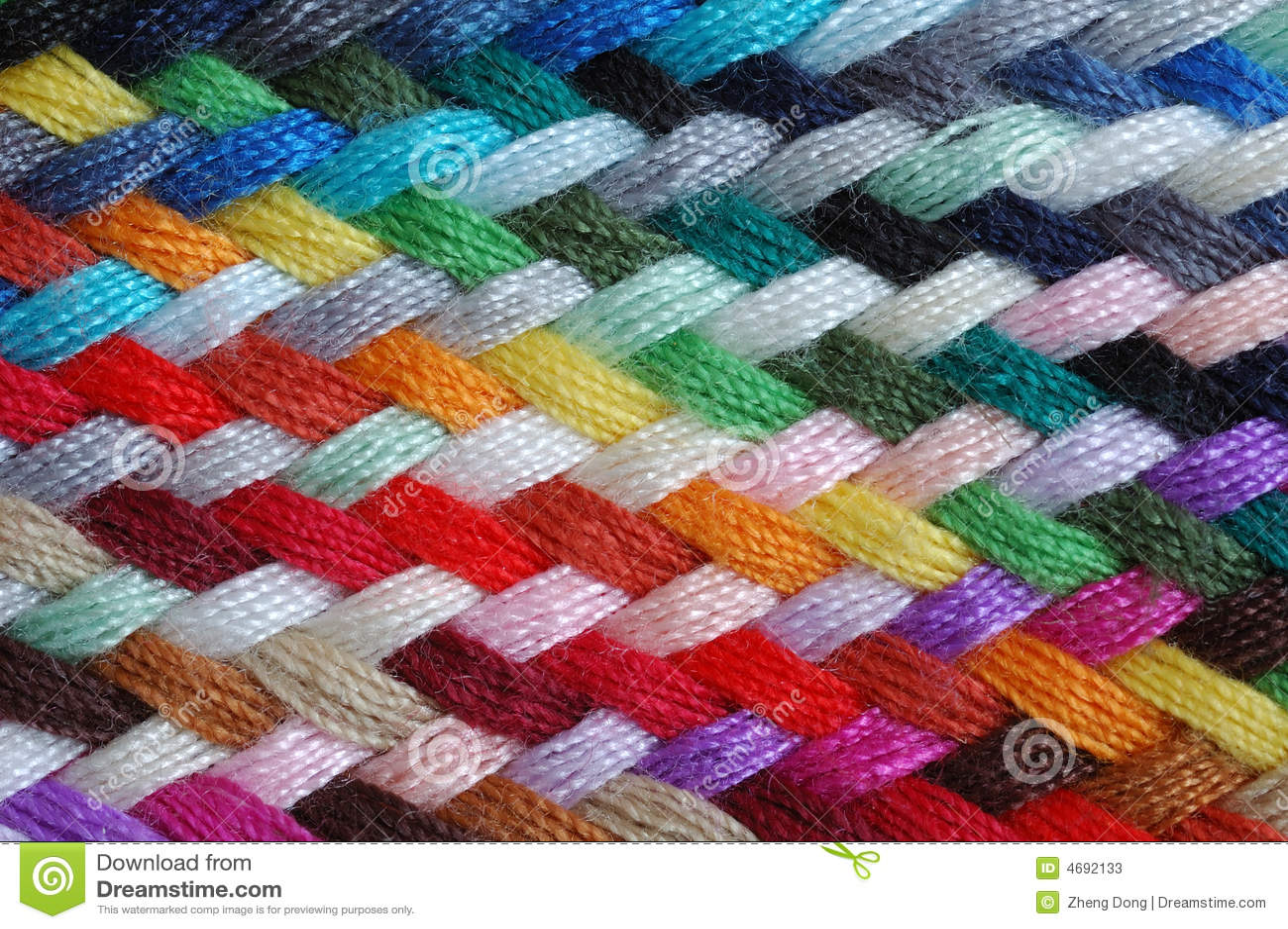 Treccia multicolore delle lane