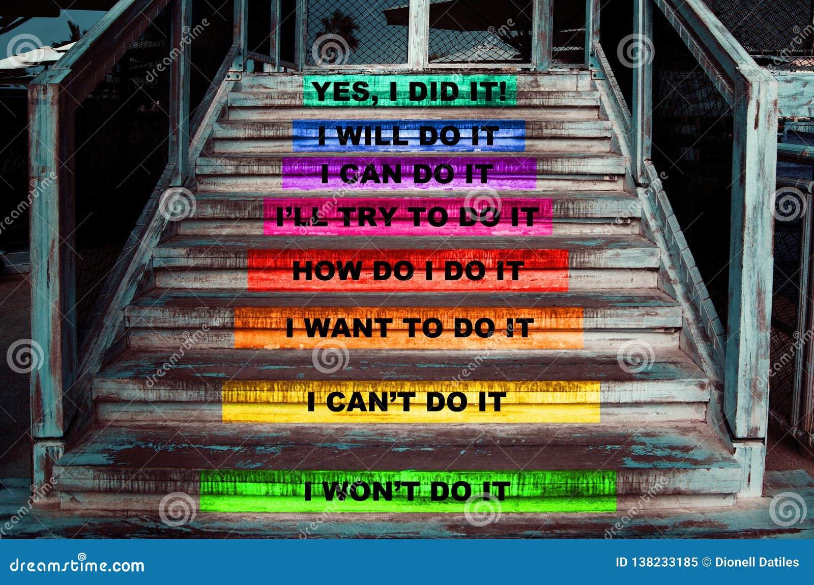 Treden met stappen om uw doel te bereiken