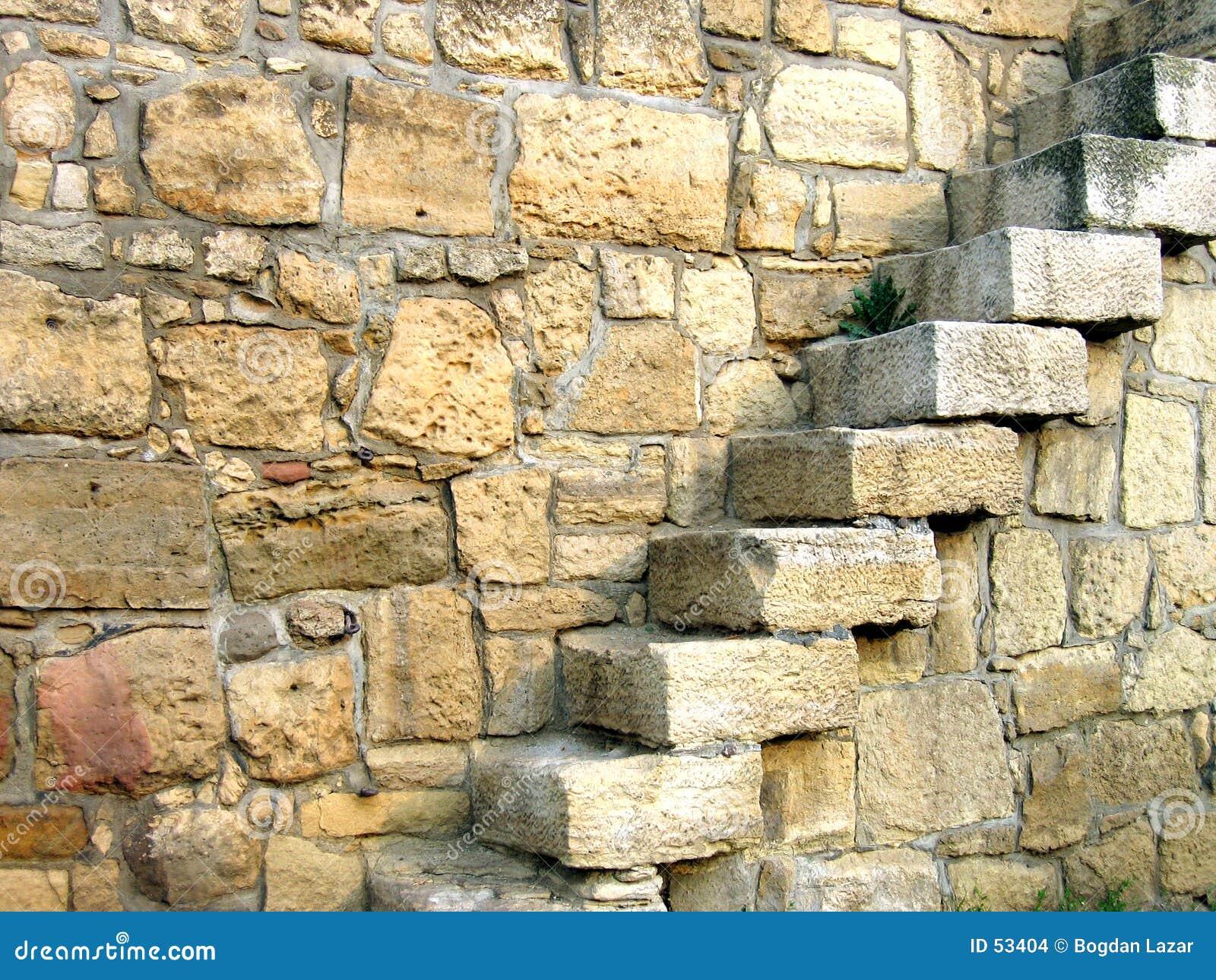 Treden in muur