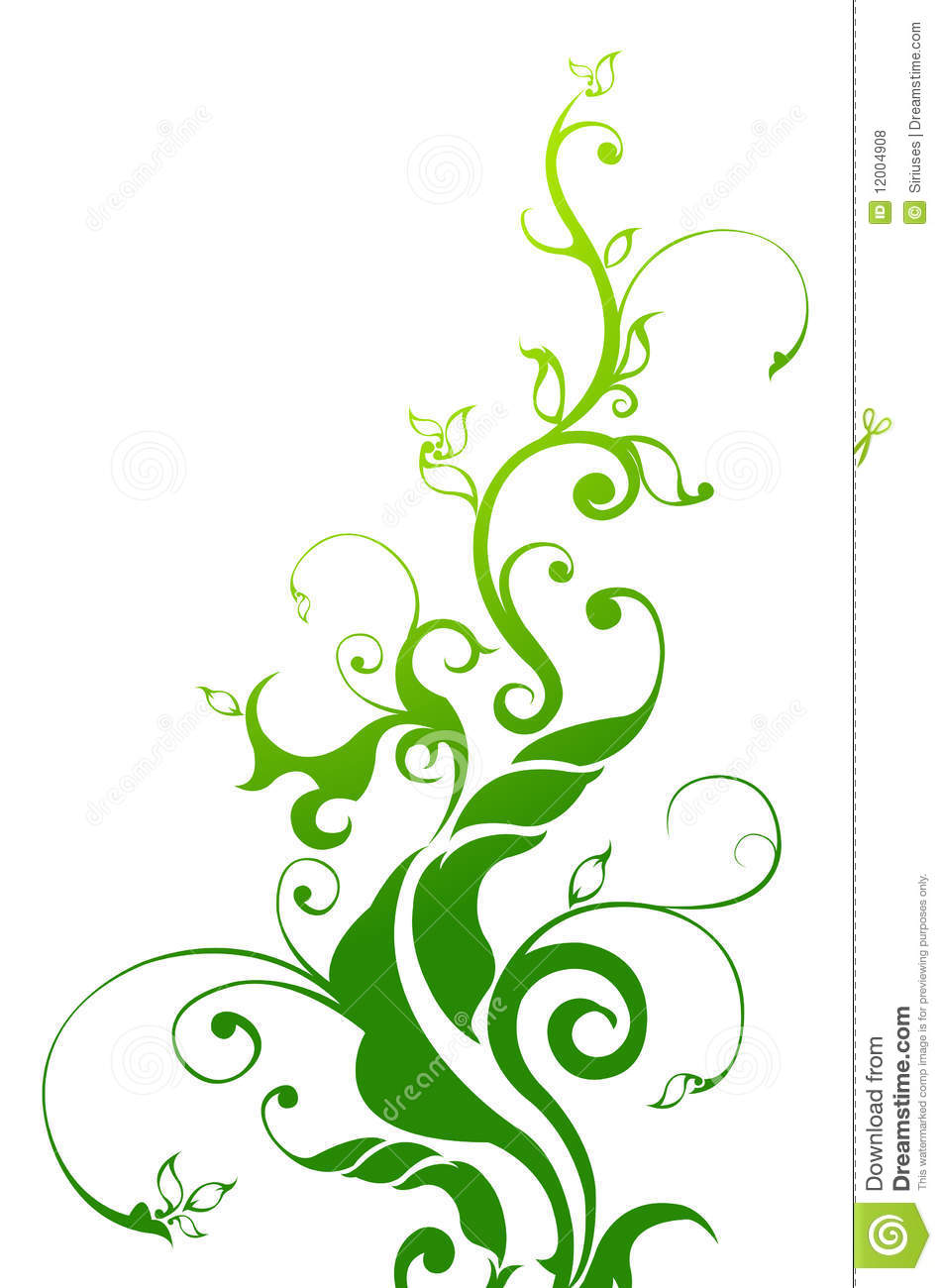 Green Vine Drawing Drawing of green tree and vine