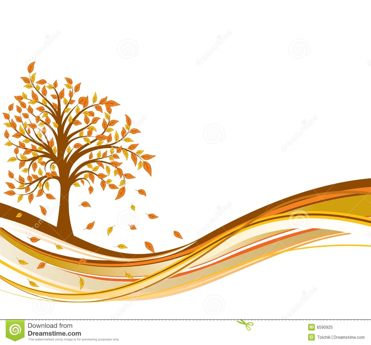 Tree Autumn Background, Vector Royalty Free Stock Photo - Image ...