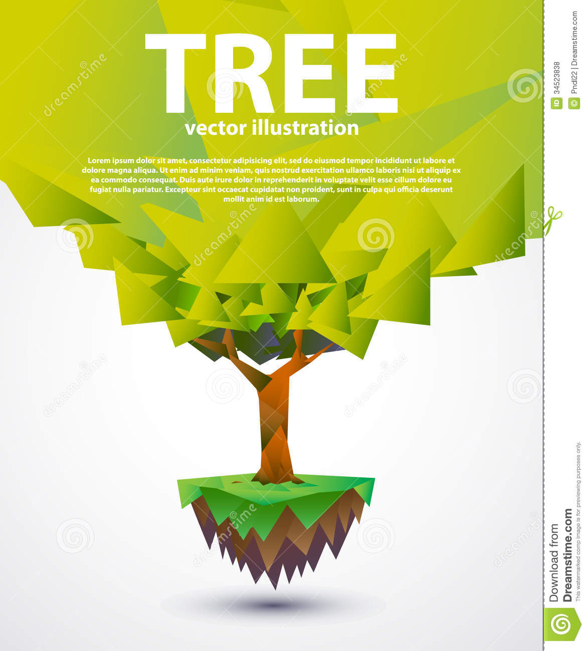 Tree Banner Design Royalty Free Stock Photos - Image: 34523838