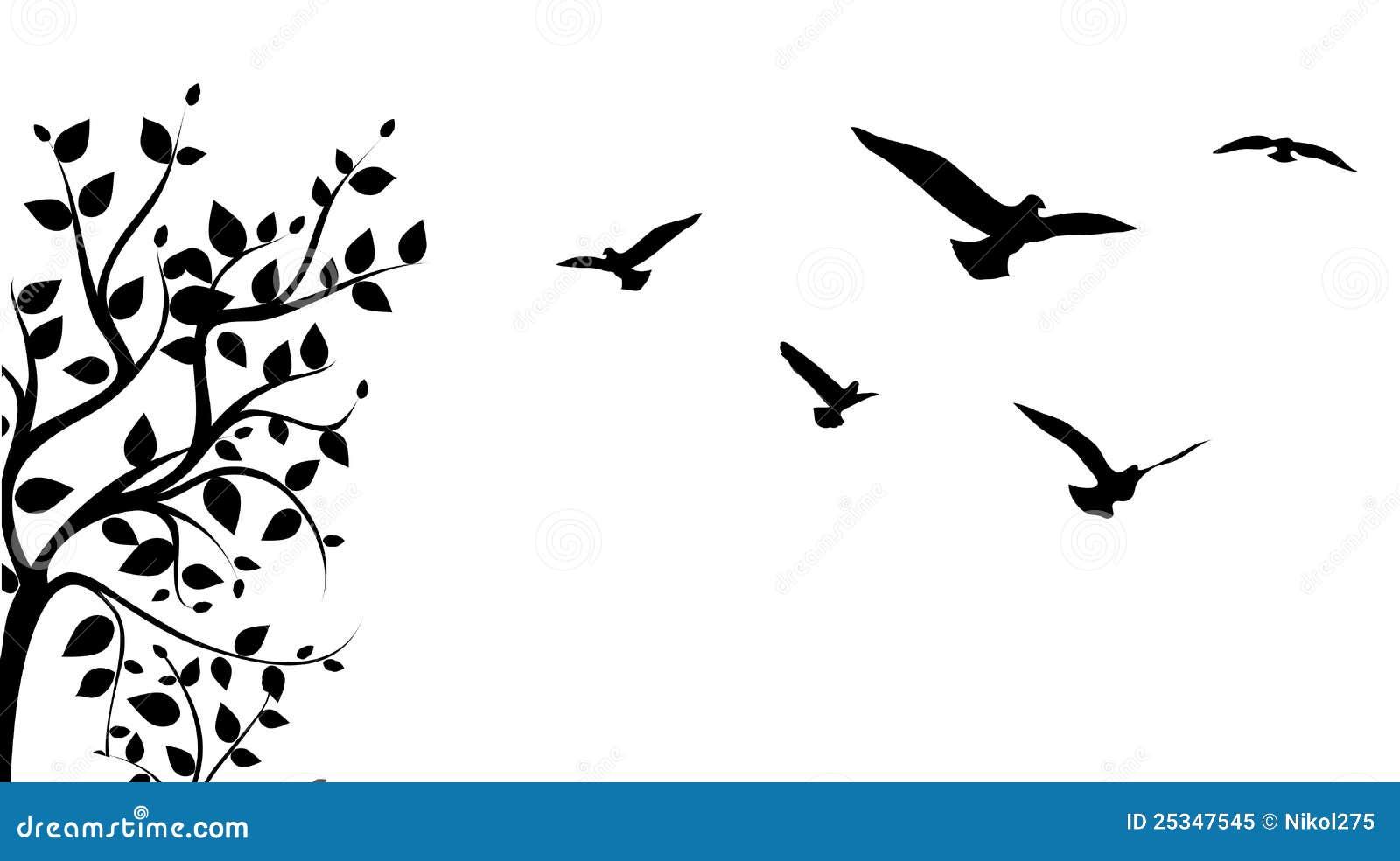 Tree And Bird Royalty Free Stock Photo Image 25347545