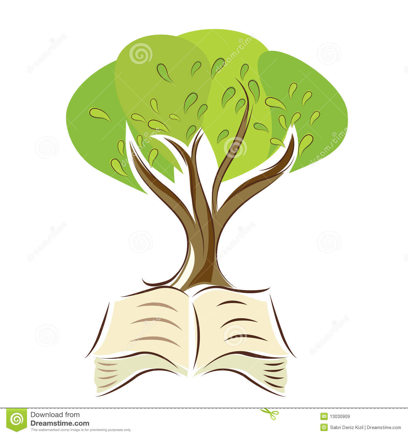 Tree With Book Royalty Free Stock Images - Image: 13030909