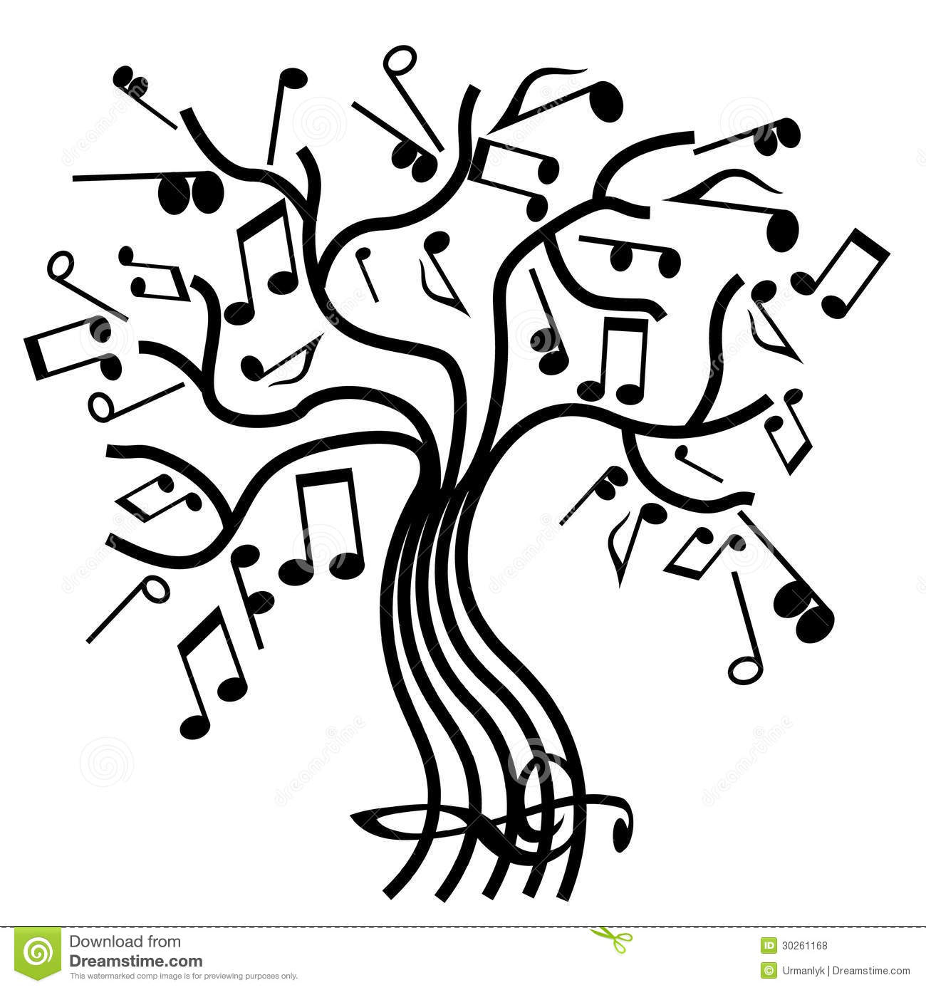 Musical Tree Vector Royalty Free Stock Photos - Image: 30261168