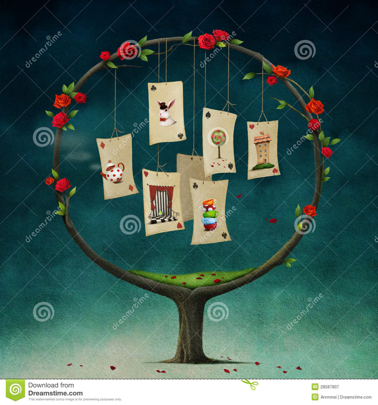 Tree with cards