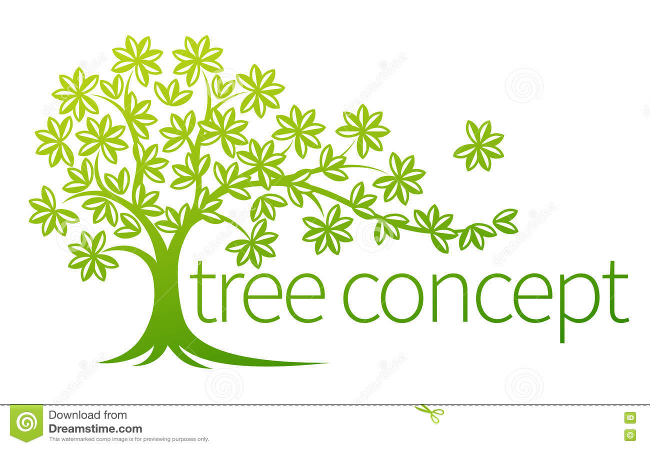 Tree concept stock vector image 79145823 - Upright trees for small spaces concept ...
