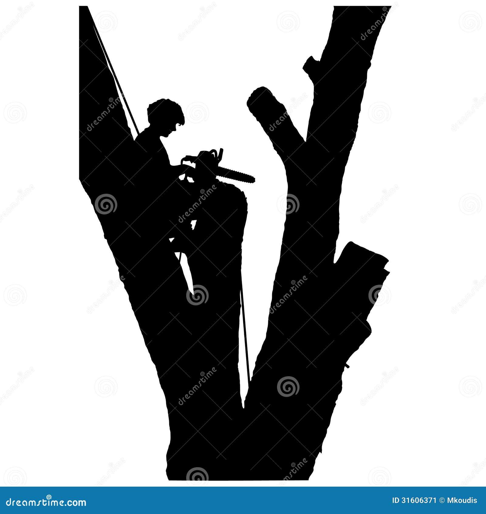 Tree Cutter Stock Vector Illustration Of Climbing Tradesman 31606371