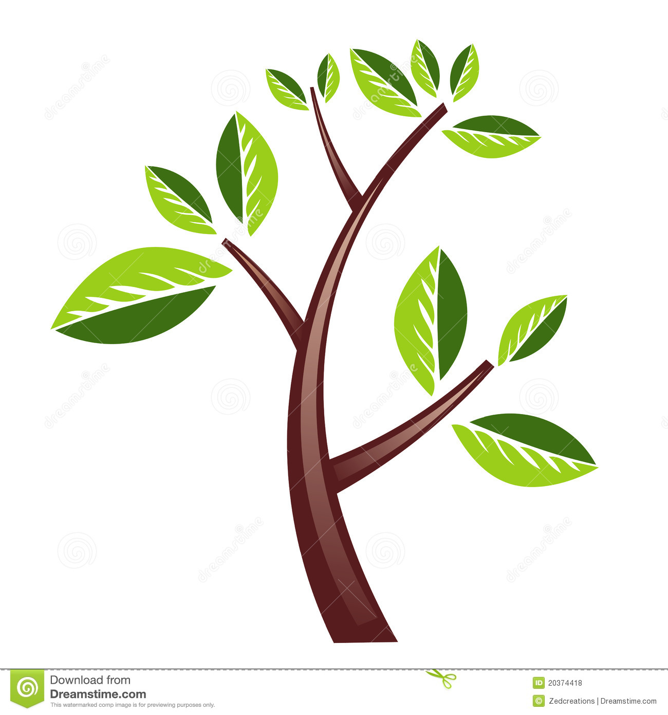 Heavy Tree design isolated in white.An additional Vector .Ai file ...