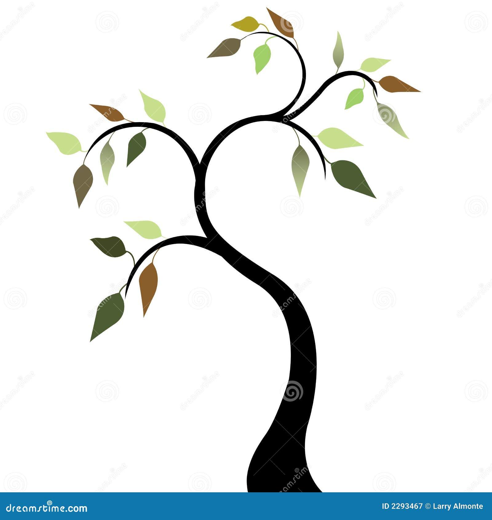 Tree för fjäder för 2 leaves