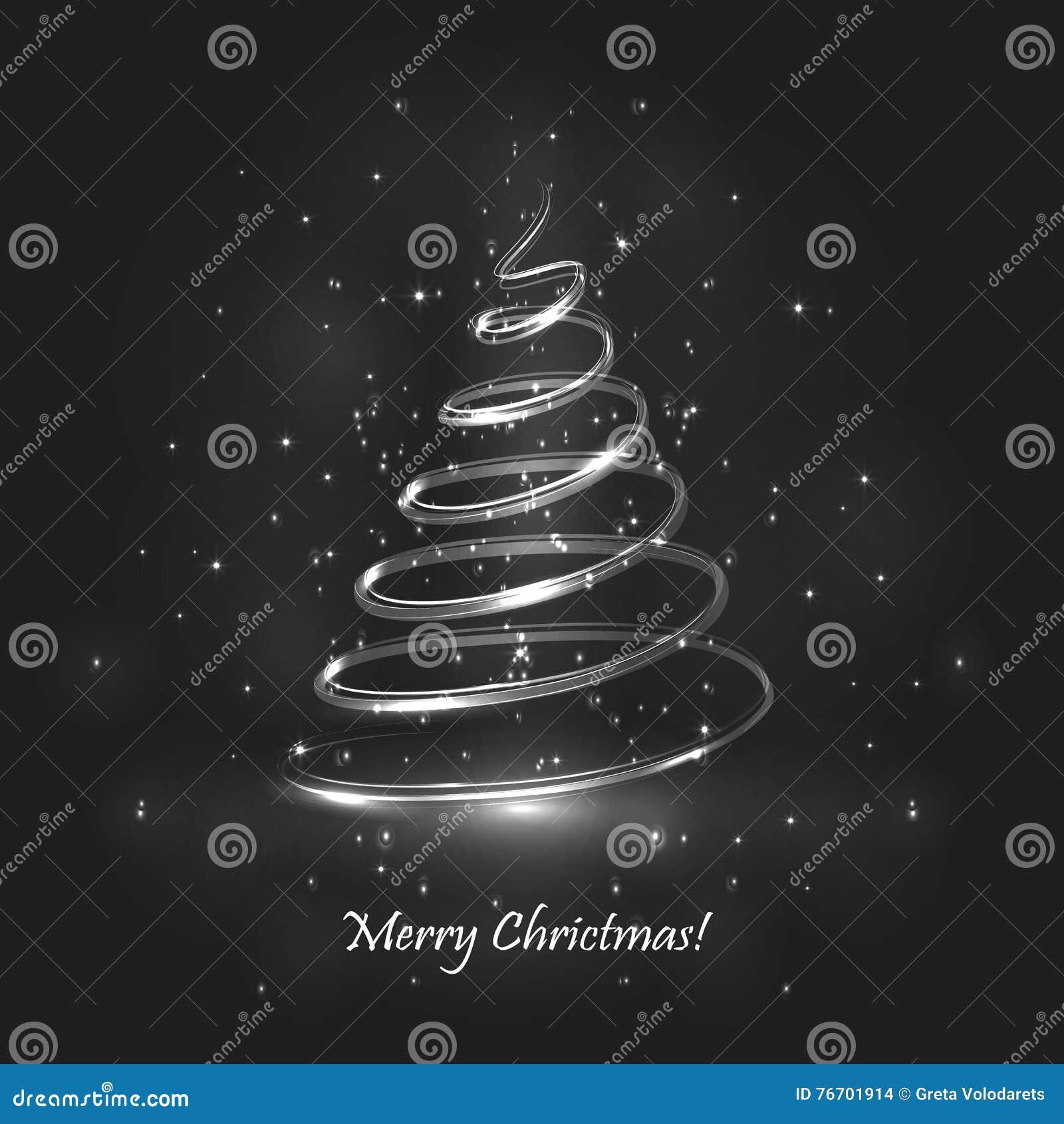 Tree för regnbåge för julfärger magisk Grå färgbakgrund