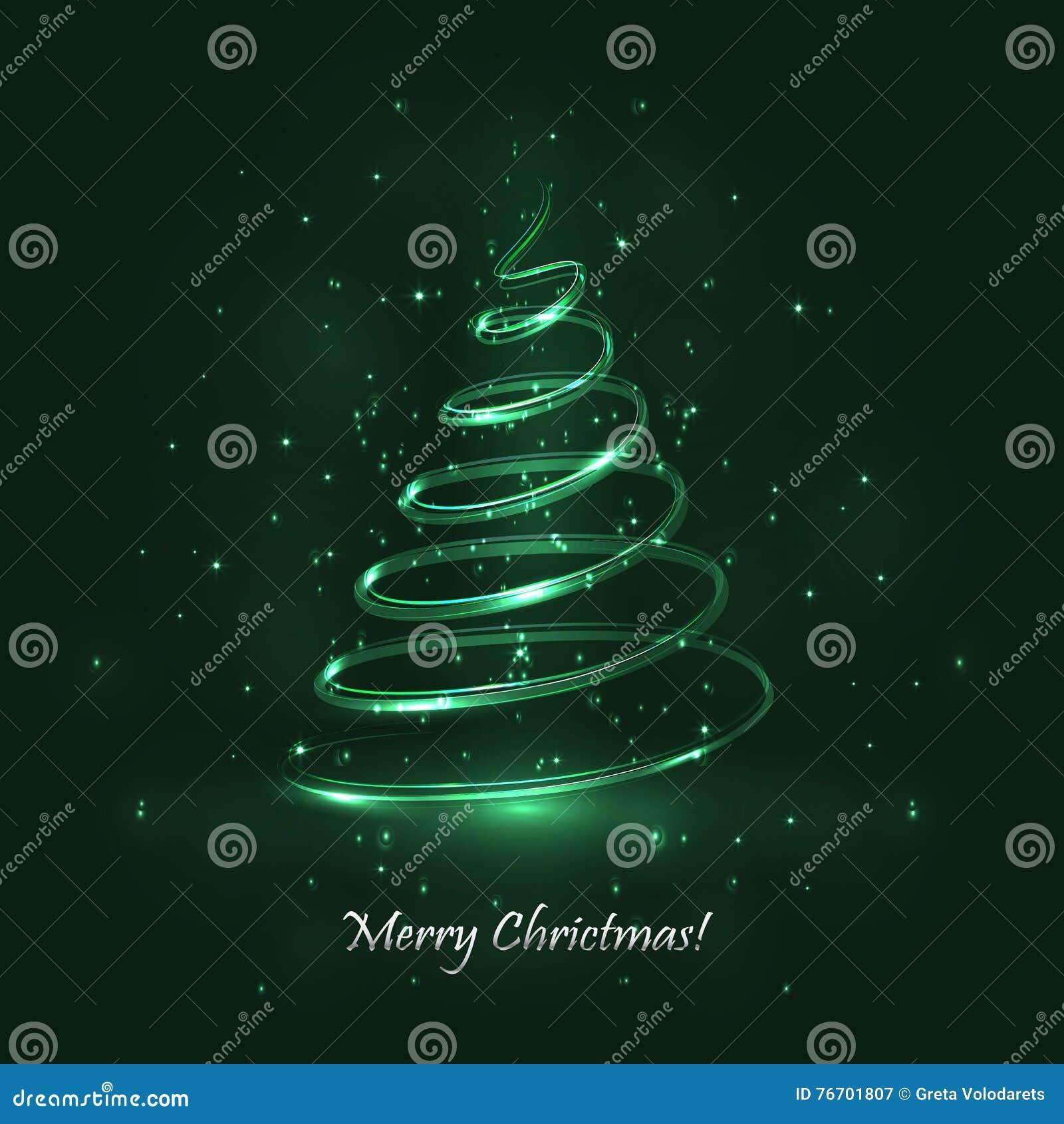 Tree för regnbåge för julfärger magisk Grön bakgrund