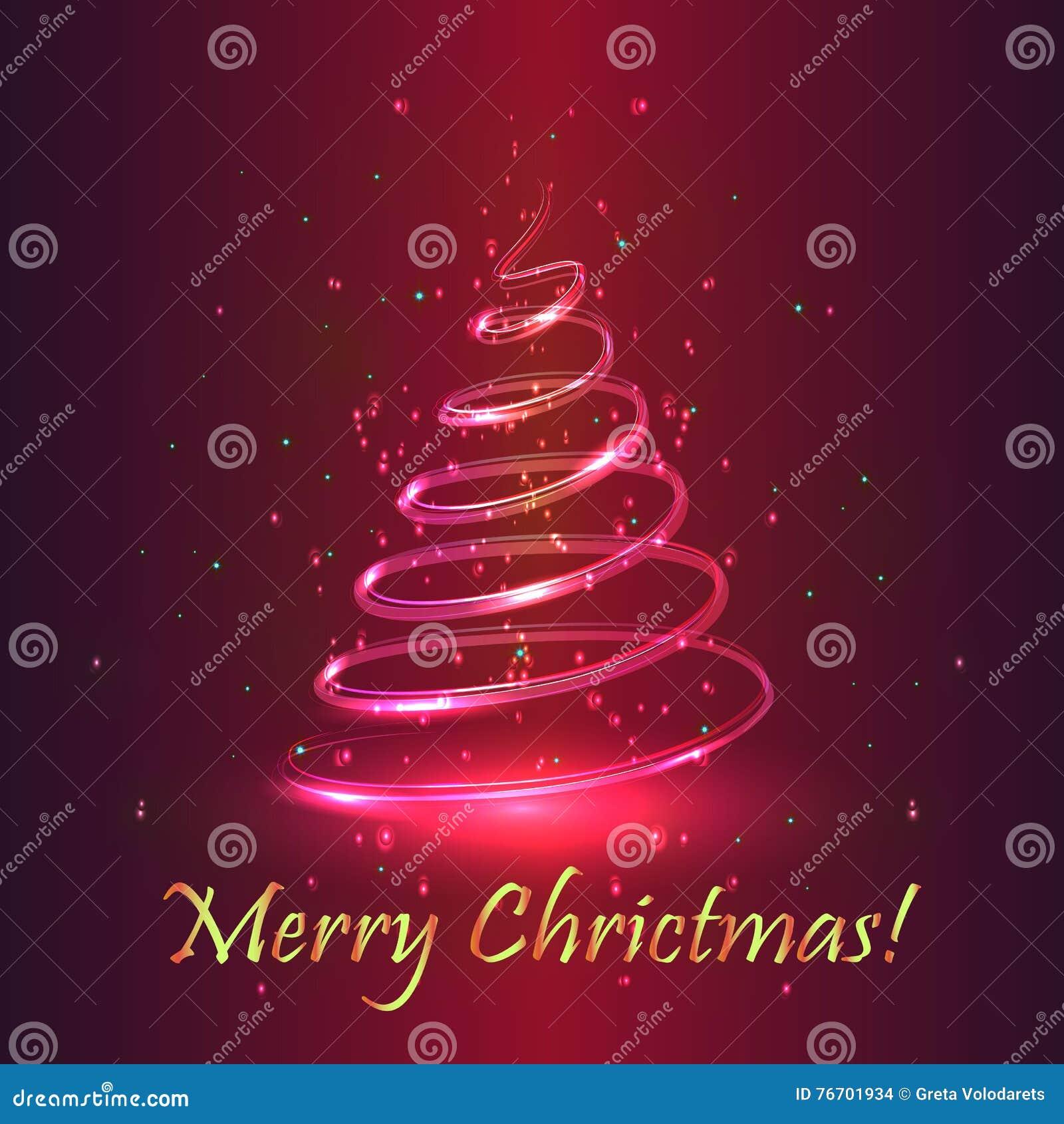 Tree för regnbåge för julfärger magisk Purpurfärgad bakgrund