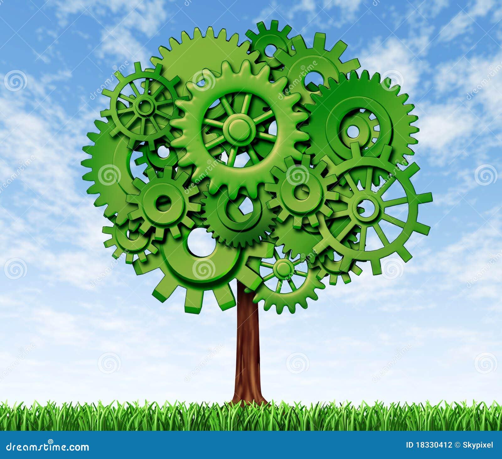 Tree för tillväxtframgångssymbol