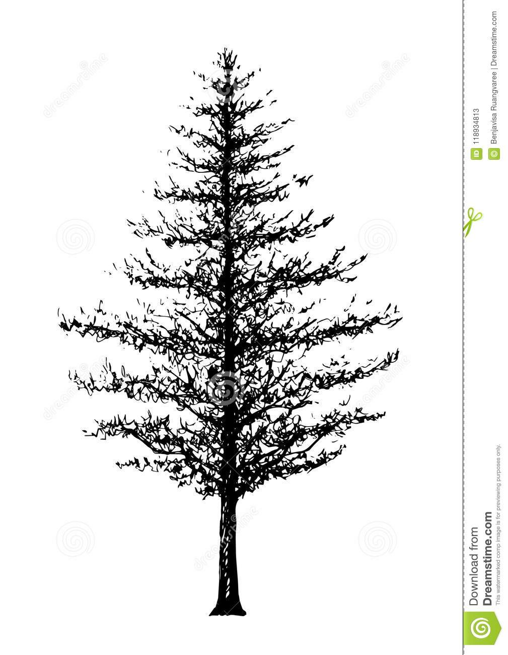 Tree Forest Hand Drawing Sketch Vector Illustration Design Stock Vector Illustration Of Hand Green 118934813