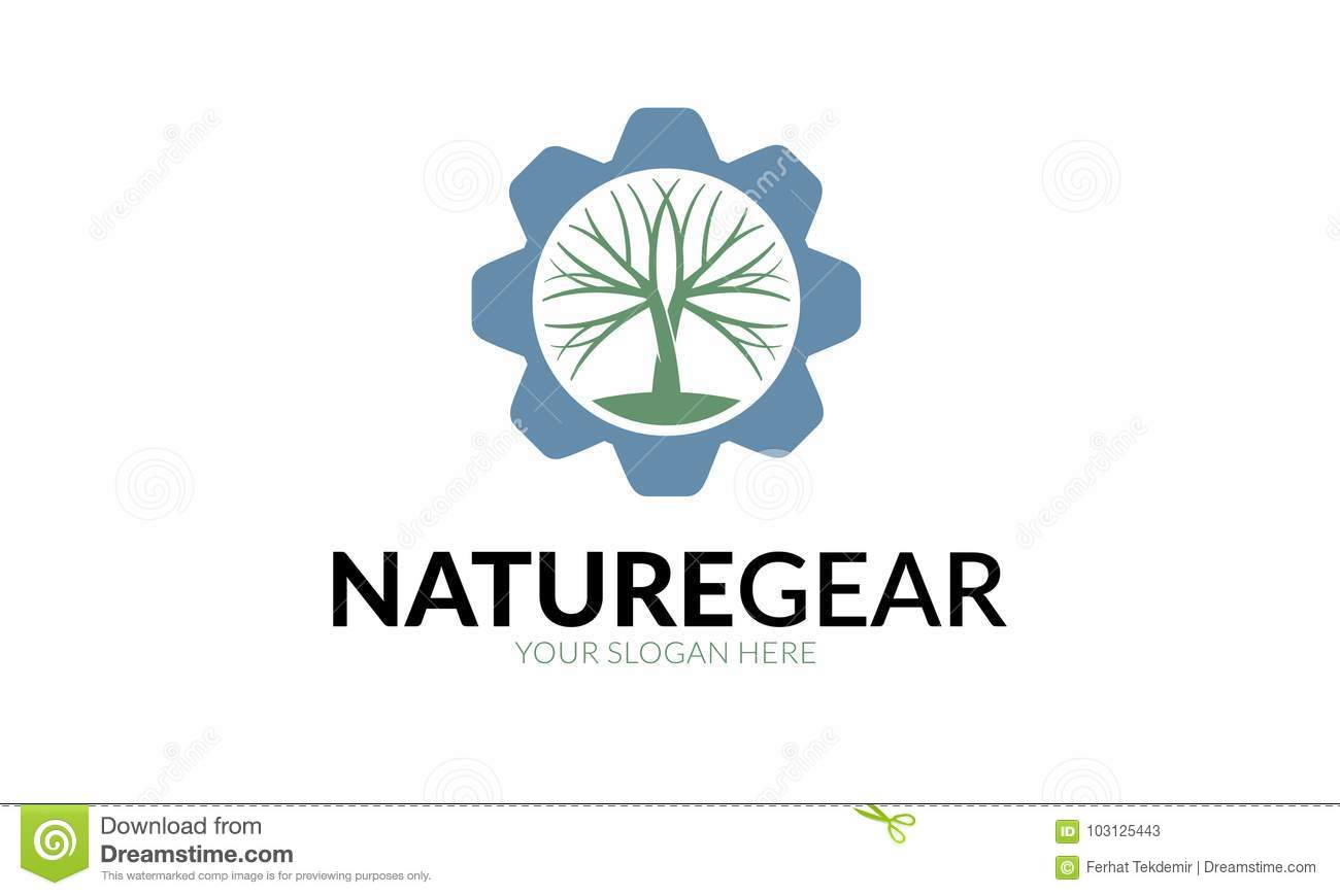 tree gear logo template stock vector illustration of suit 103125443