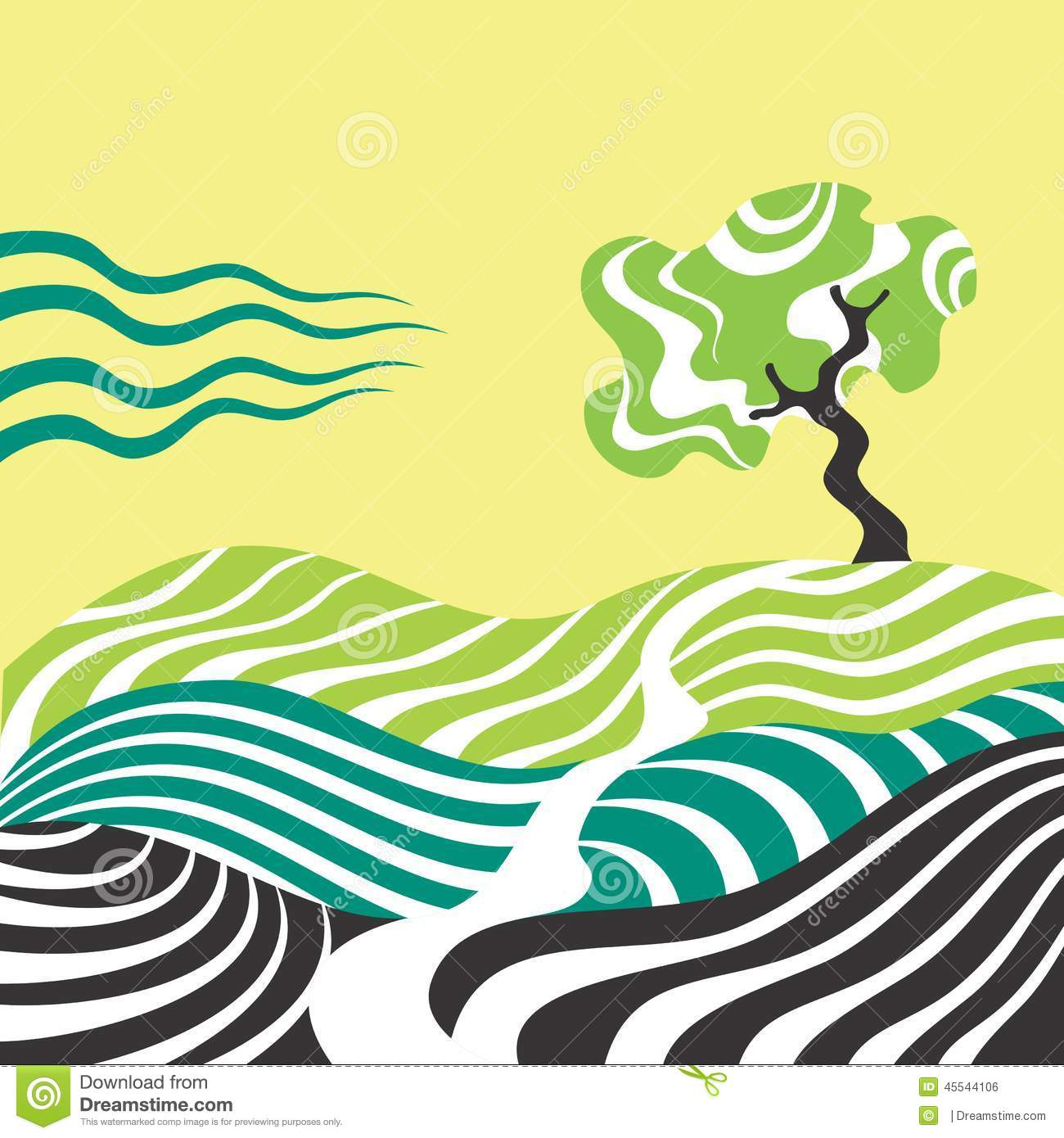 Drawing Lines With Core Graphics : Tree stock illustration image