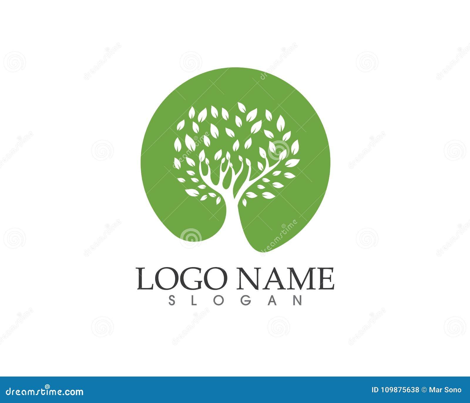 Tree Green Identity Card Vector Logo Template Tree Green Identity ...