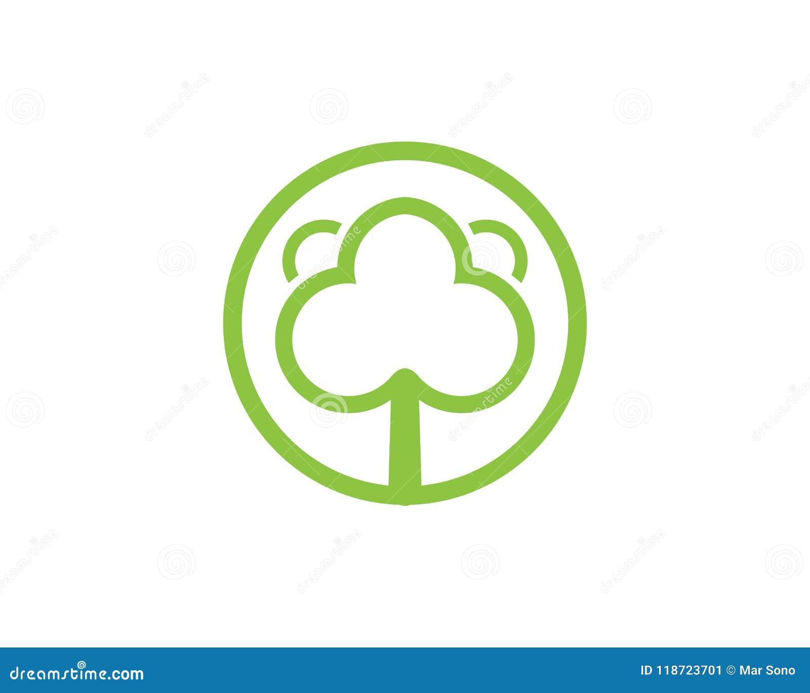 Tree Green Identity Card Vector Logo Template Stock Vector