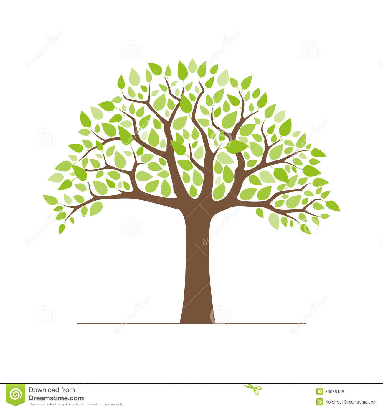 Tree With Green Leaves Royalty Free Stock Photos - Image: 36086158
