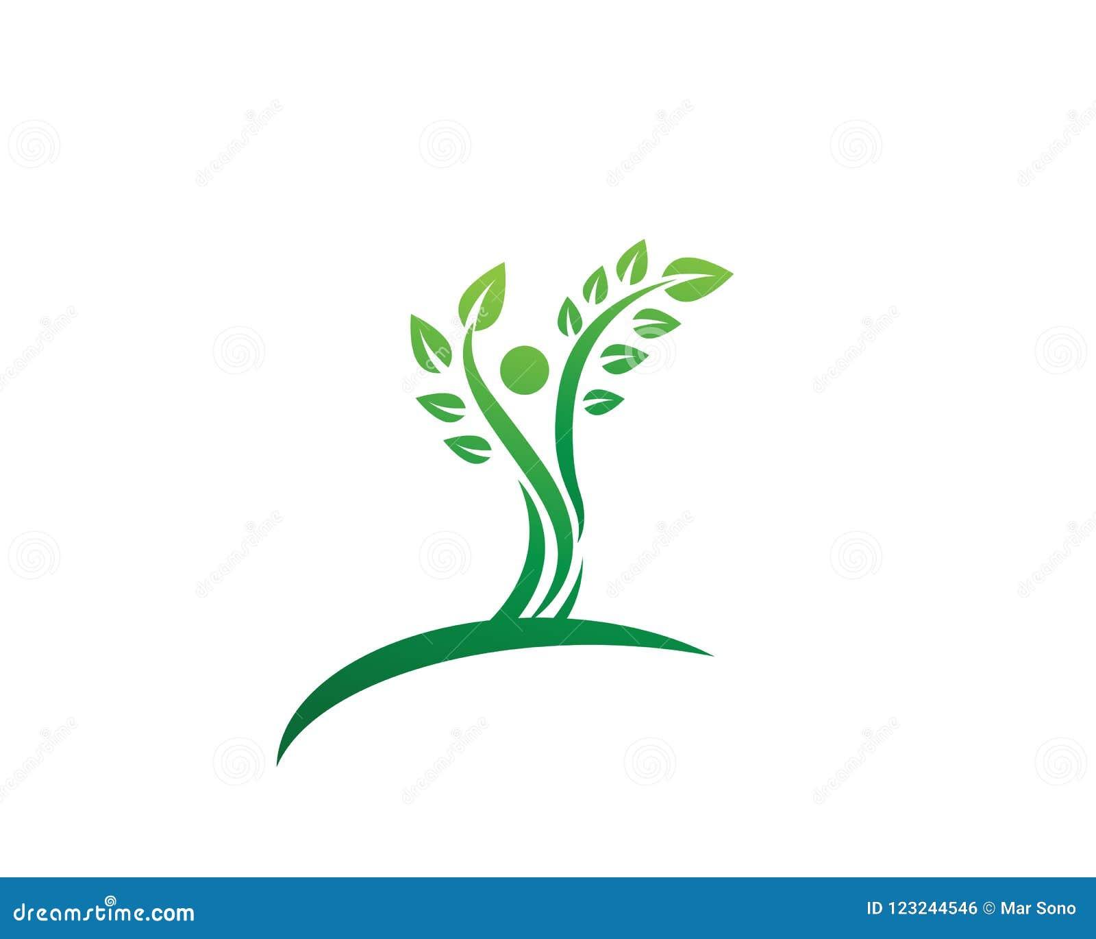 Tree Green People Identity Vector Logo Template Stock Vector ...