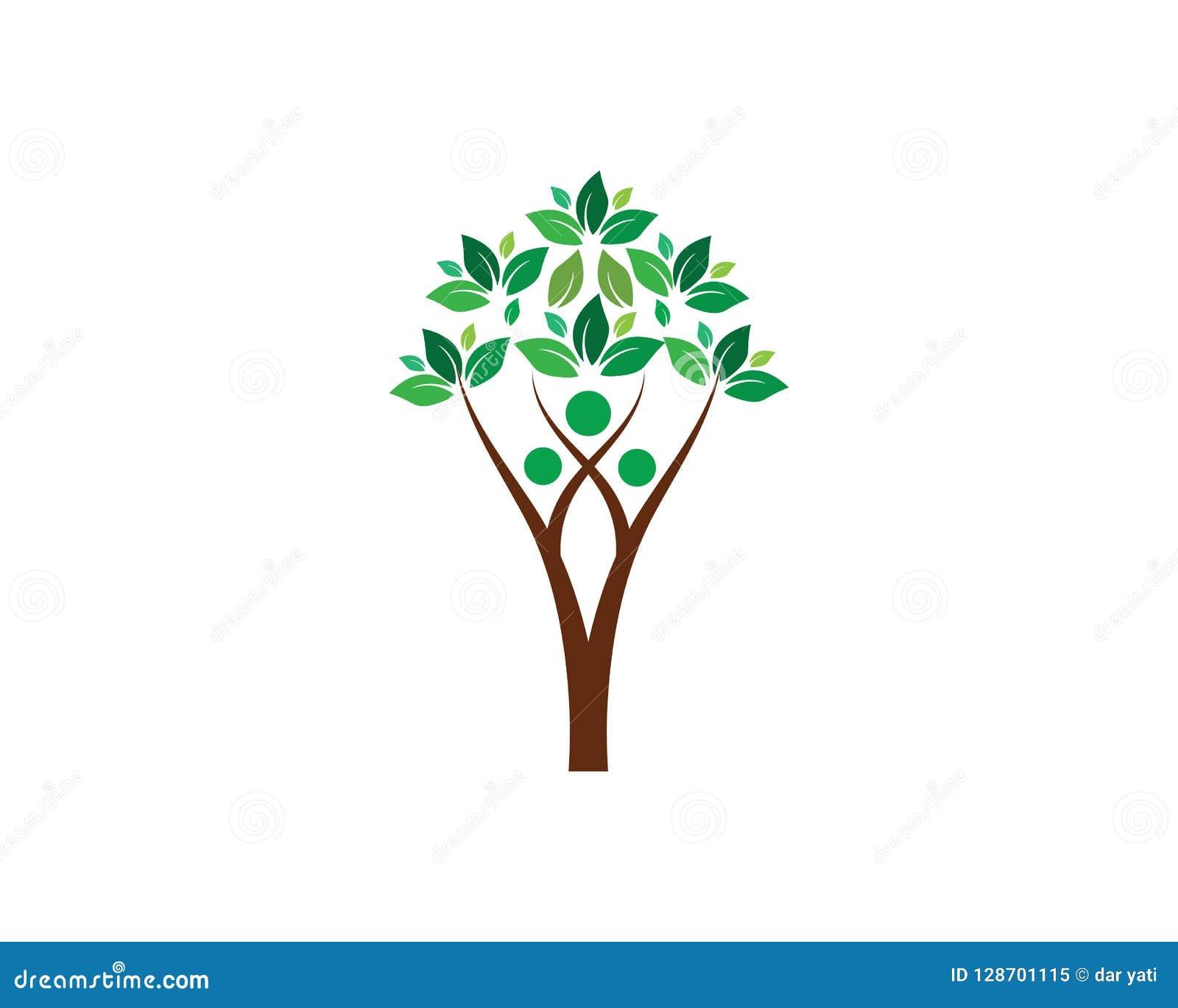 Tree Green People Logo Template Stock Illustration Illustration Of
