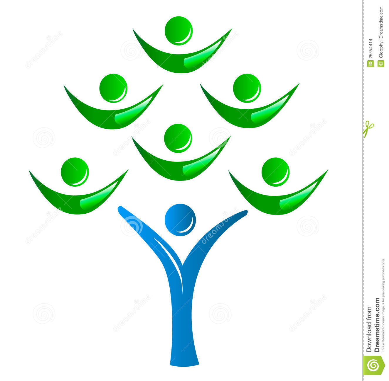 tree group of people logo stock vector illustration of company