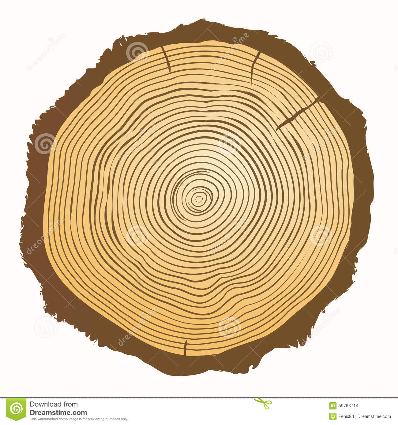 Tree Growth Rings. Vector Wooden Background Stock Vector ...