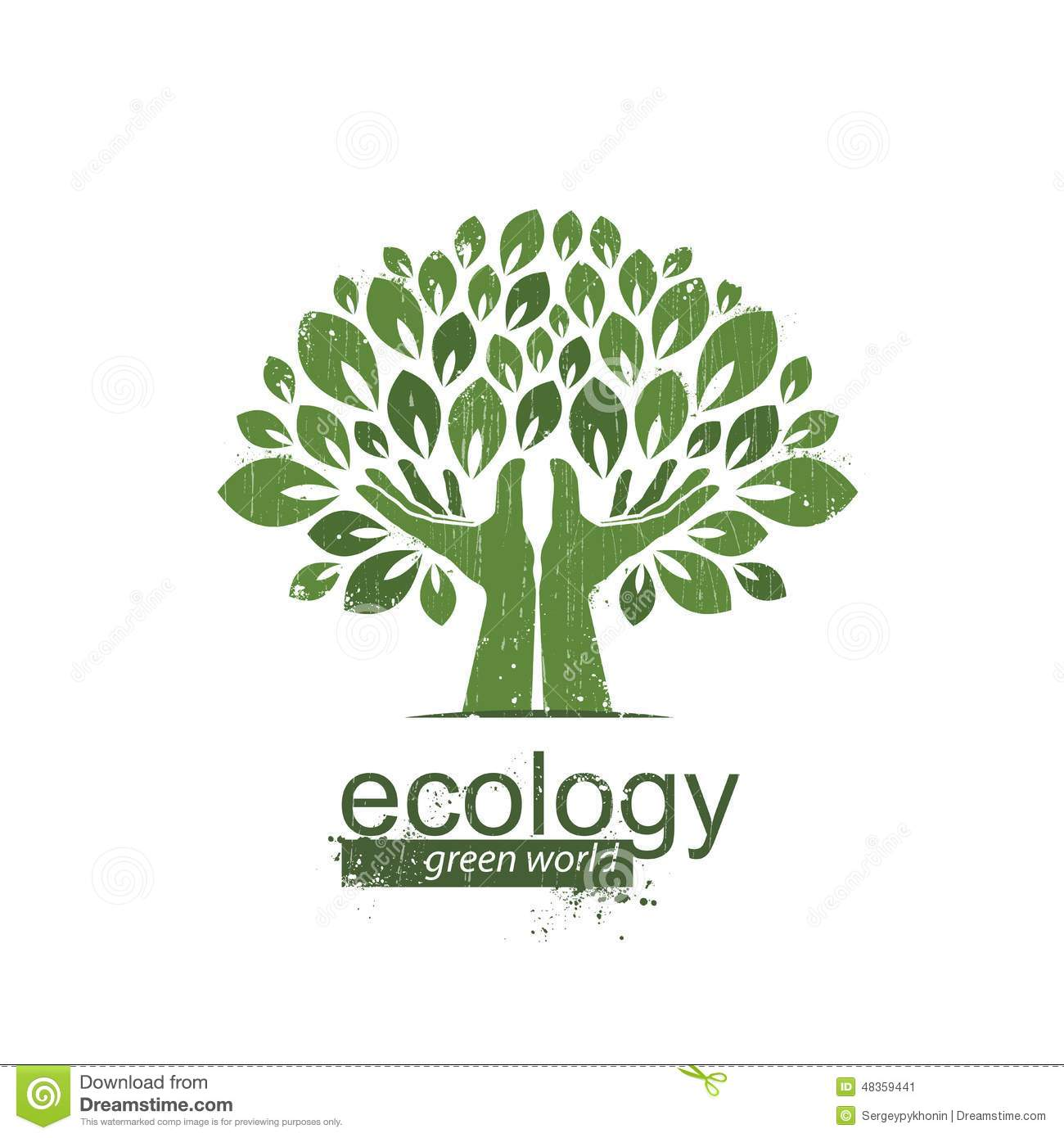 Go Green With Eco Tree And Planet Imagego Green Go Clean Sunflower