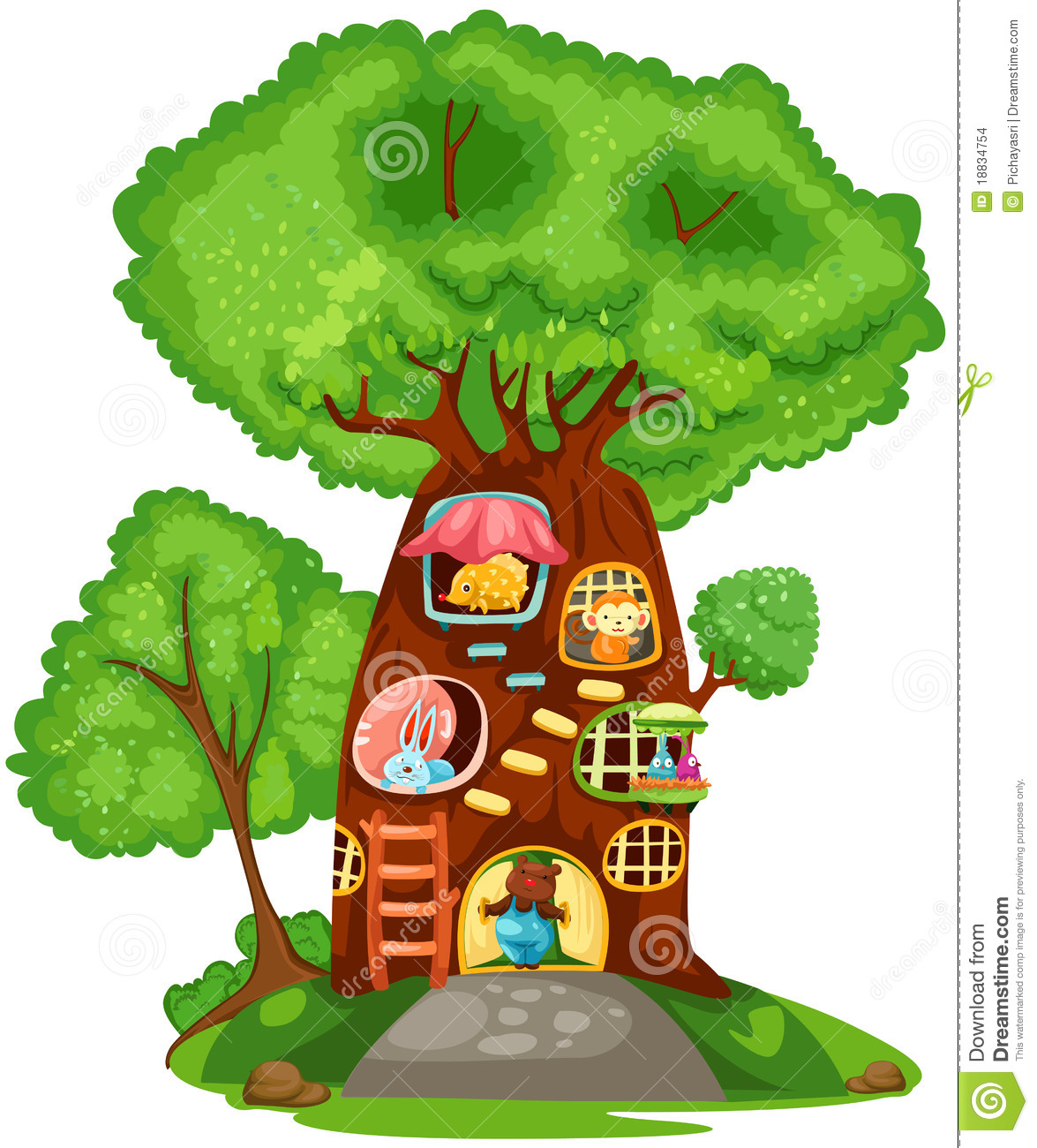 Displaying 20> Images For - Kids Treehouse Clipart...