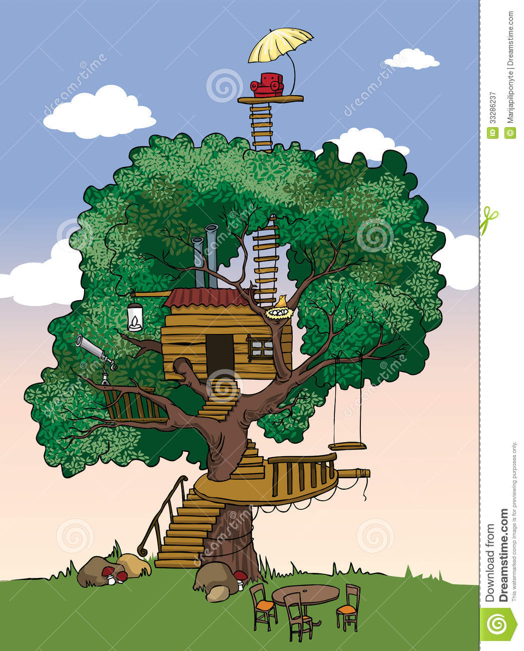 Tree House Royalty Free Stock Photography - Image: 33286237