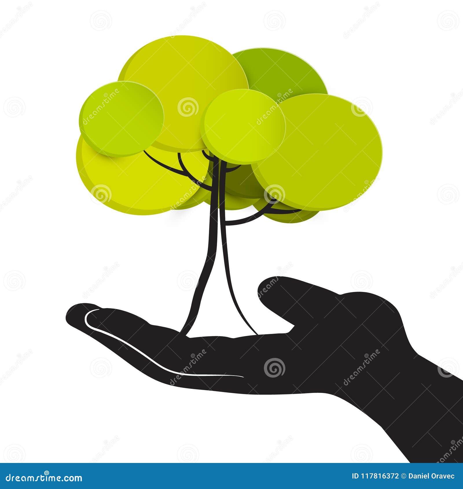 Tree in Human Hand.